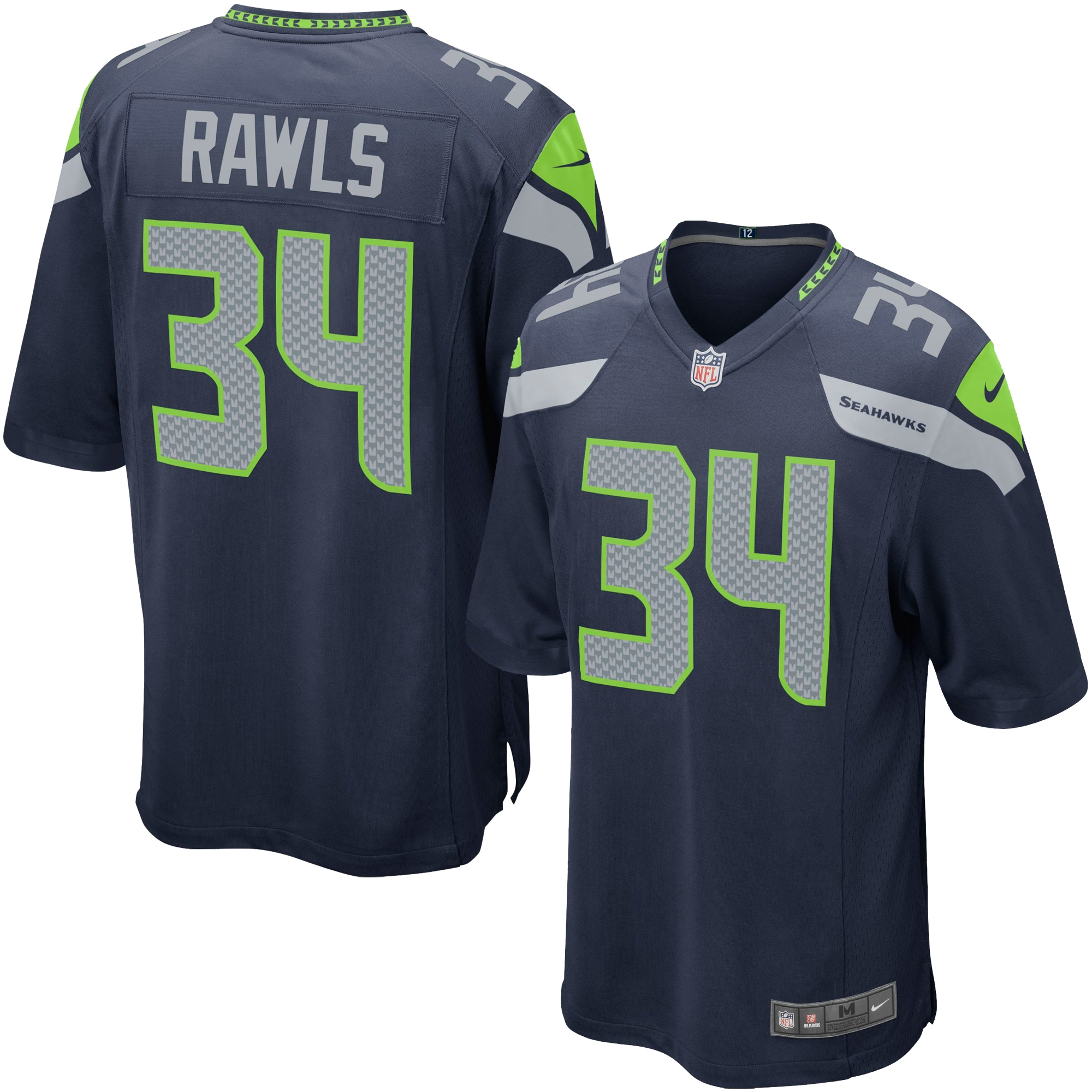 Thomas Rawls Seattle Seahawks Nike Youth Team Color Game Jersey - College Navy