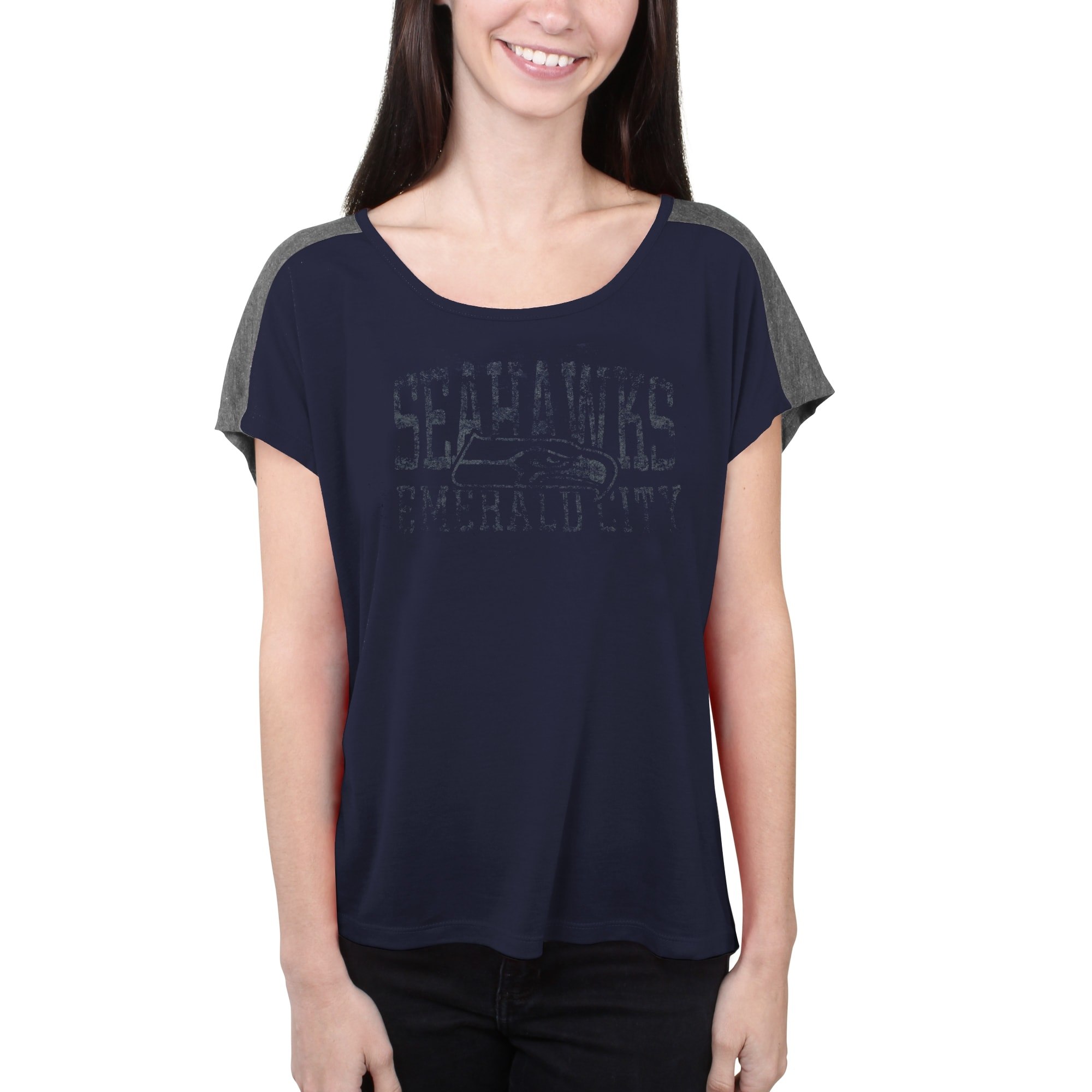 Seattle Seahawks Majestic Women's Play For Me T-Shirt - College Navy