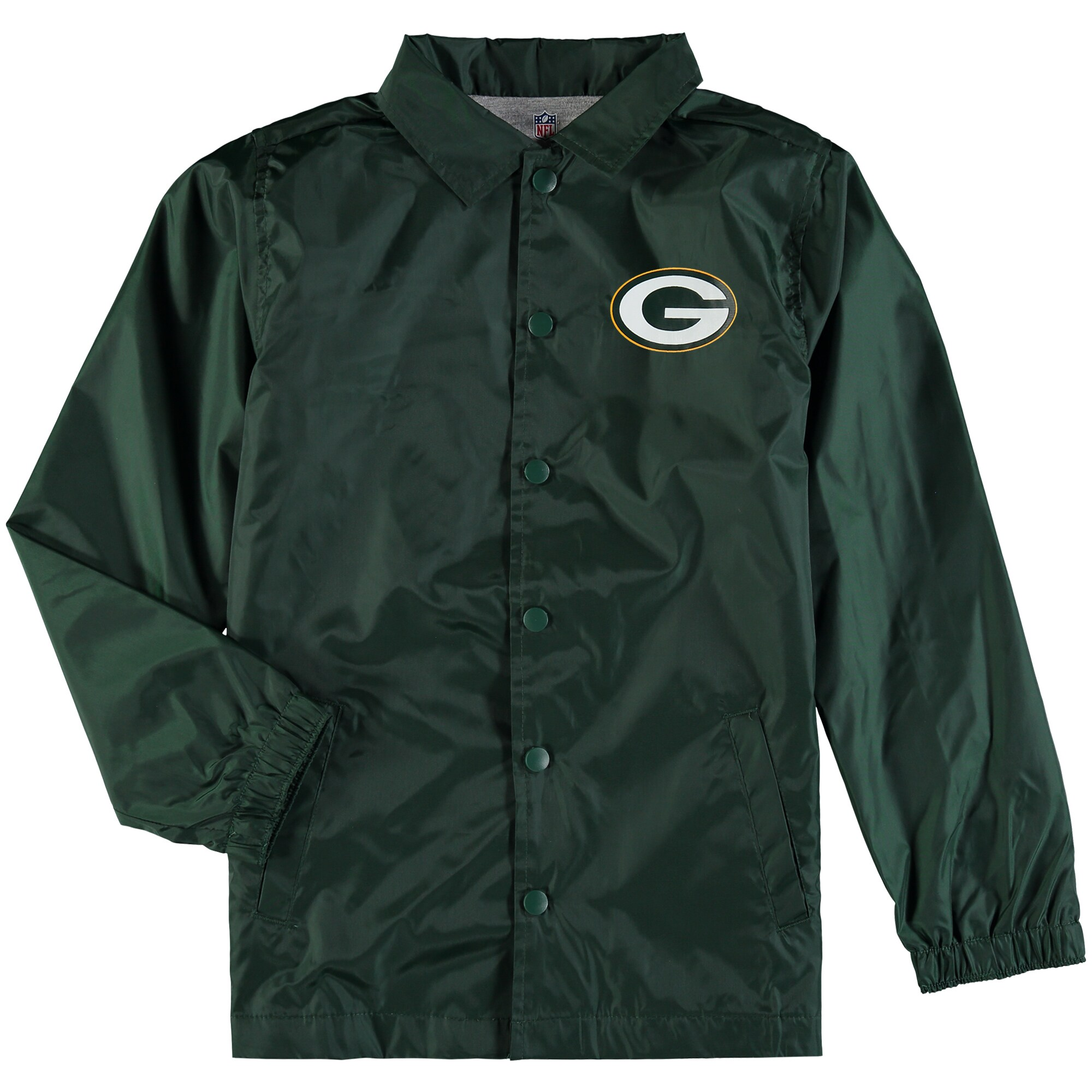 Green Bay Packers Youth Bravo Coach Jacket - Green