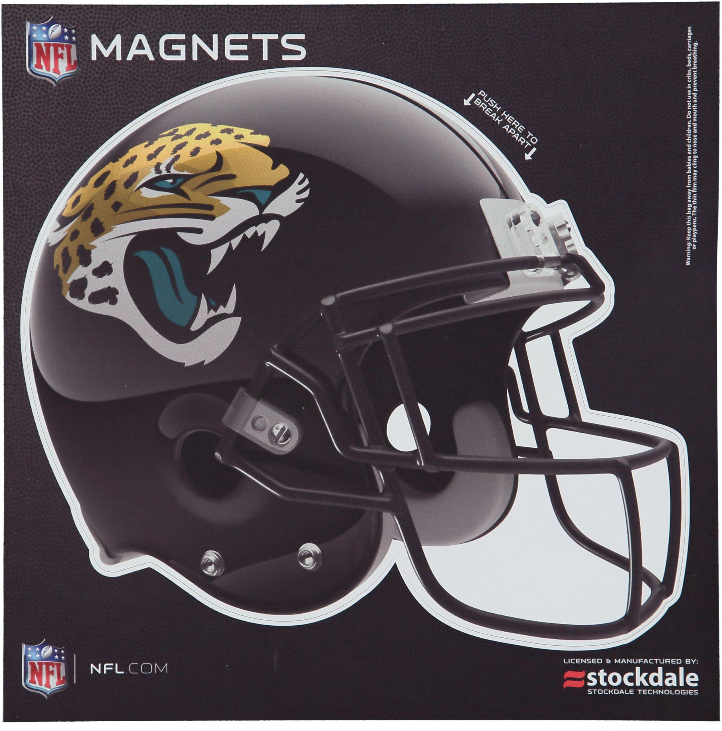 "Jacksonville Jaguars 12"" x 12"" Helmet Car Magnet"