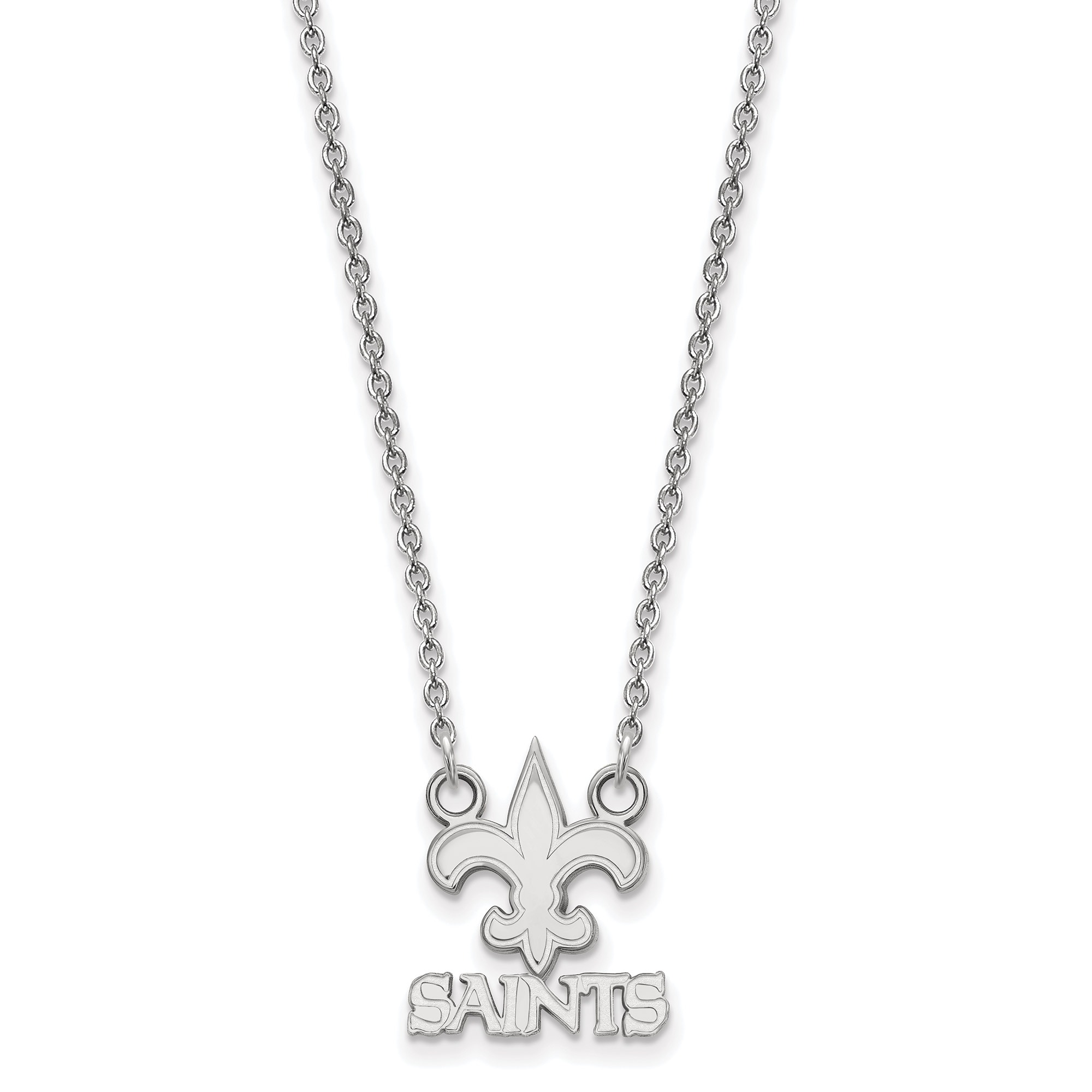 New Orleans Saints Sterling Silver Small Split Chain Necklace