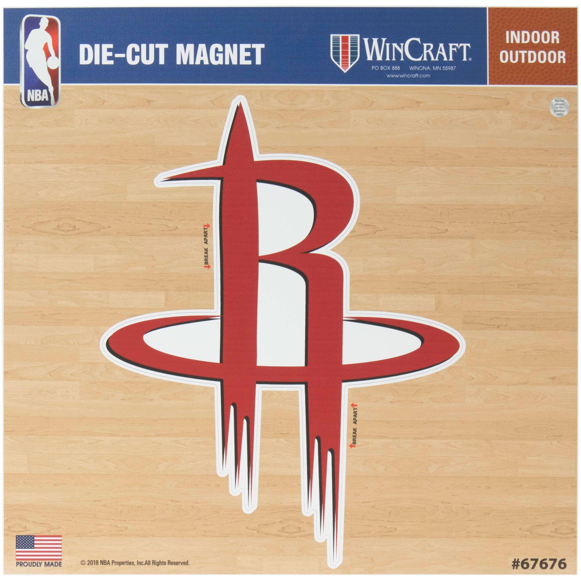"Houston Rockets 12"" x 12"" Car Magnet"