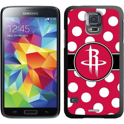 Houston Rockets Galaxy S5 Polka Dot Thin-Shield Case