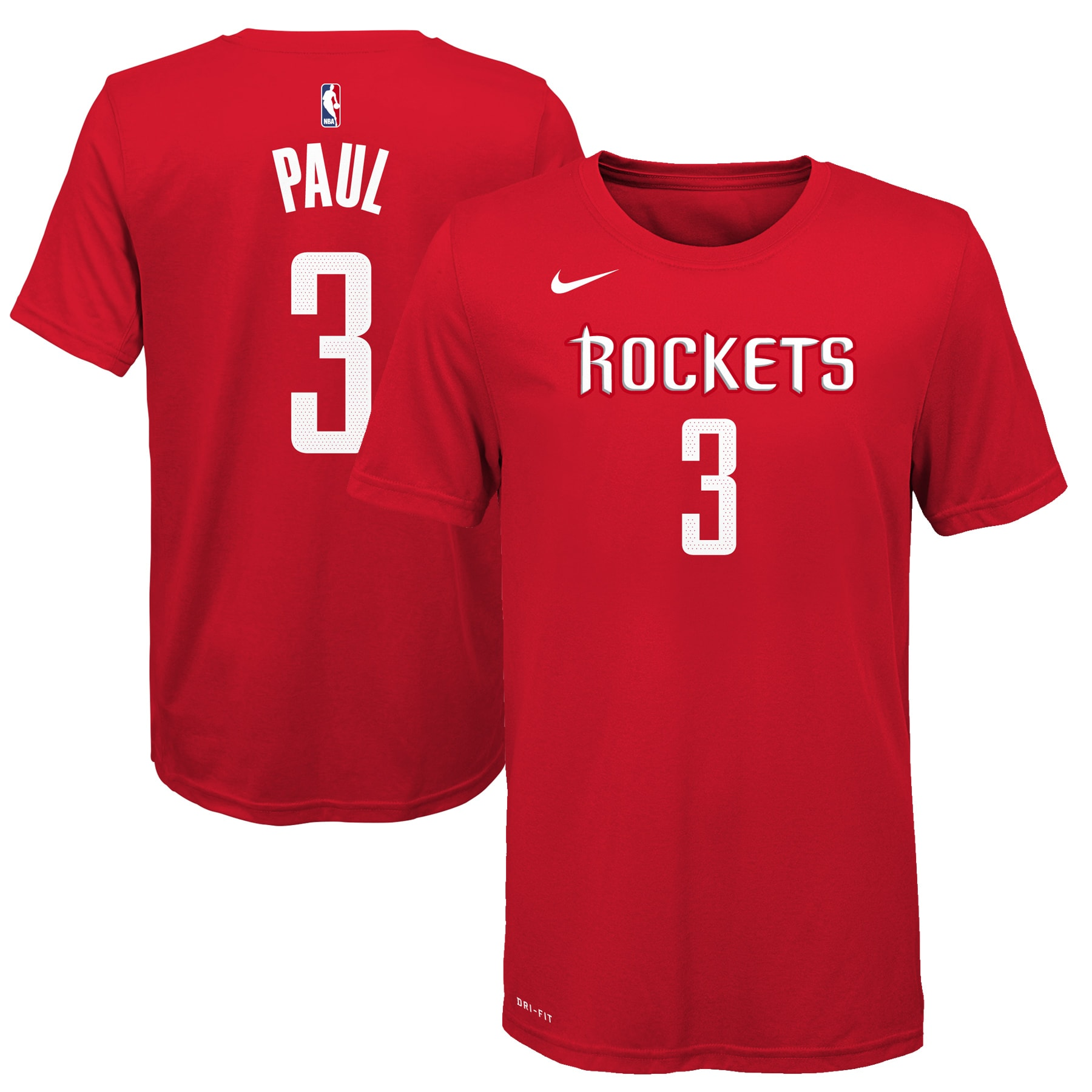 Chris Paul Houston Rockets Nike Youth Name & Number T-Shirt - Red