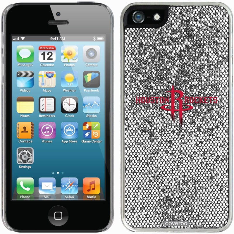 Houston Rockets iPhone 5/5s Bling Thinshield Snap-On Case - Silver