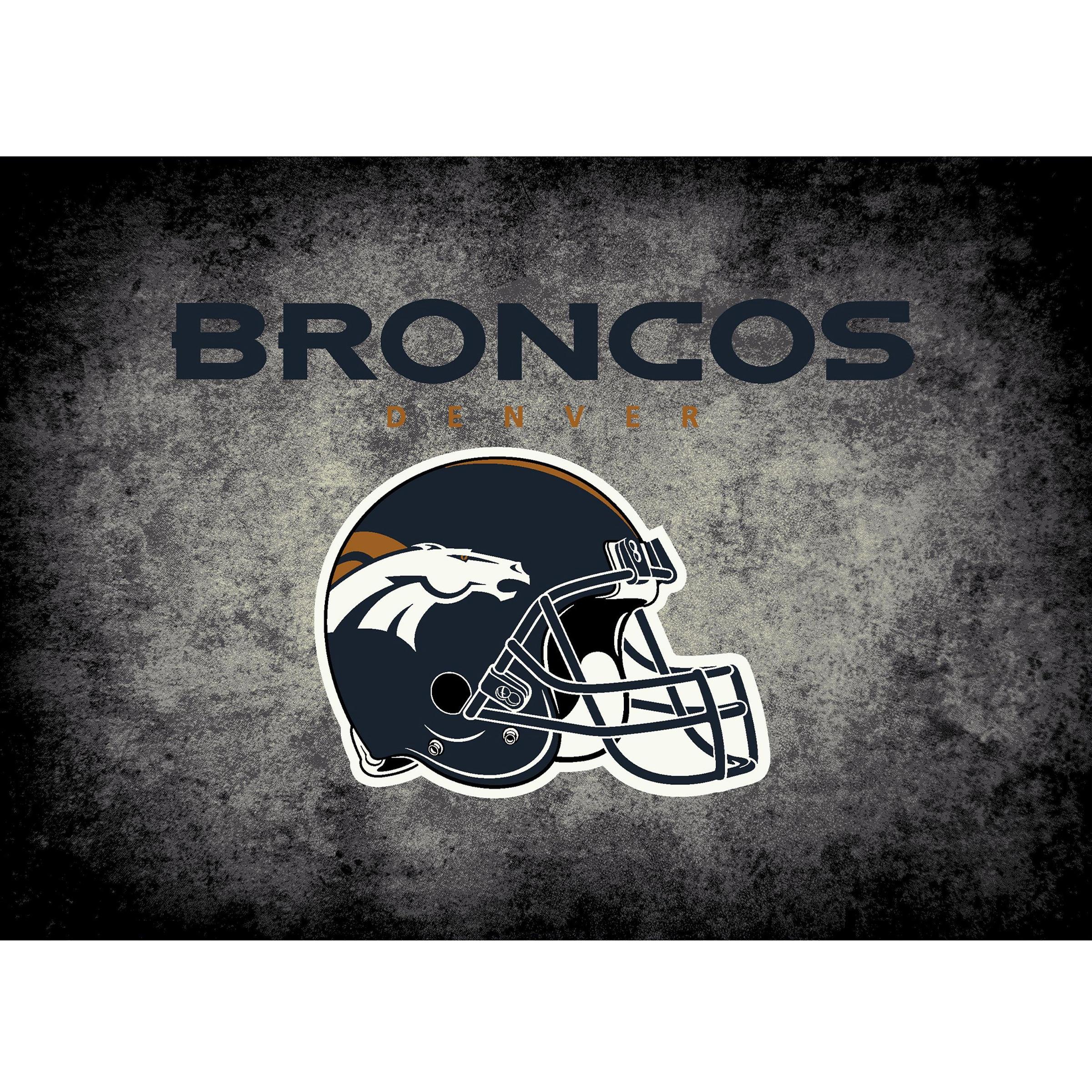 Denver Broncos Imperial 6' x 8' Distressed Rug