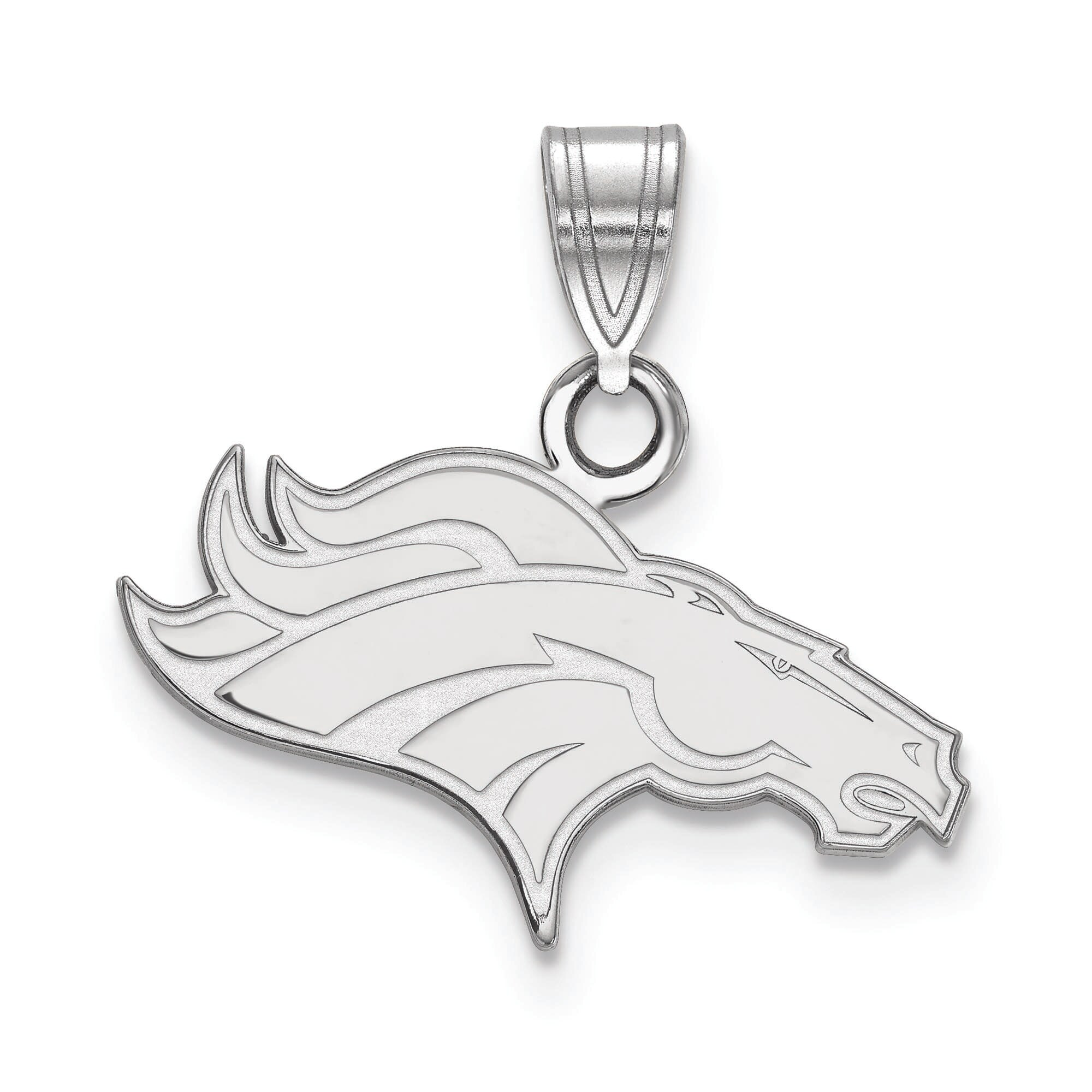 Denver Broncos Women's Silver Small Pendant
