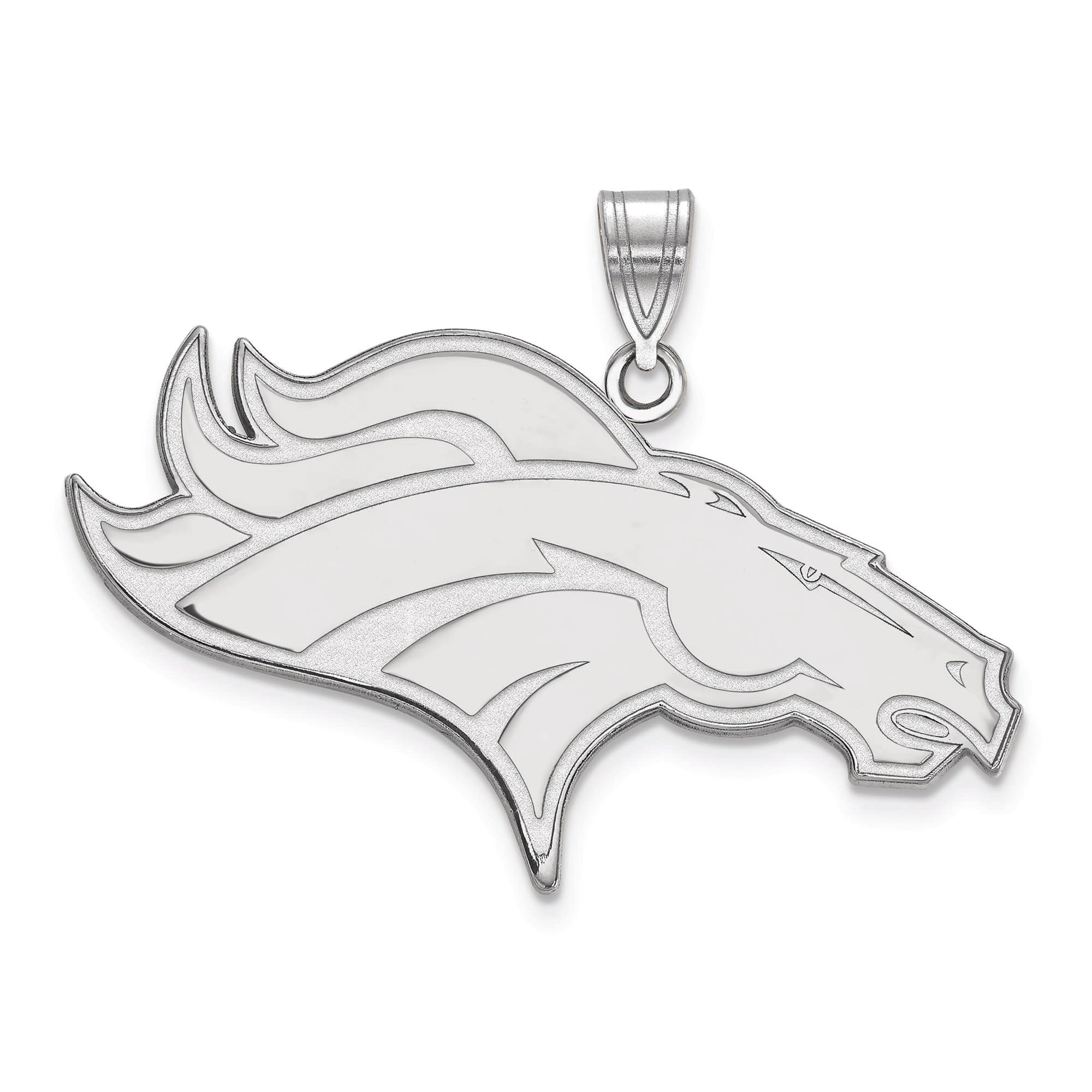 Denver Broncos Women's Sterling Silver XL Pendant