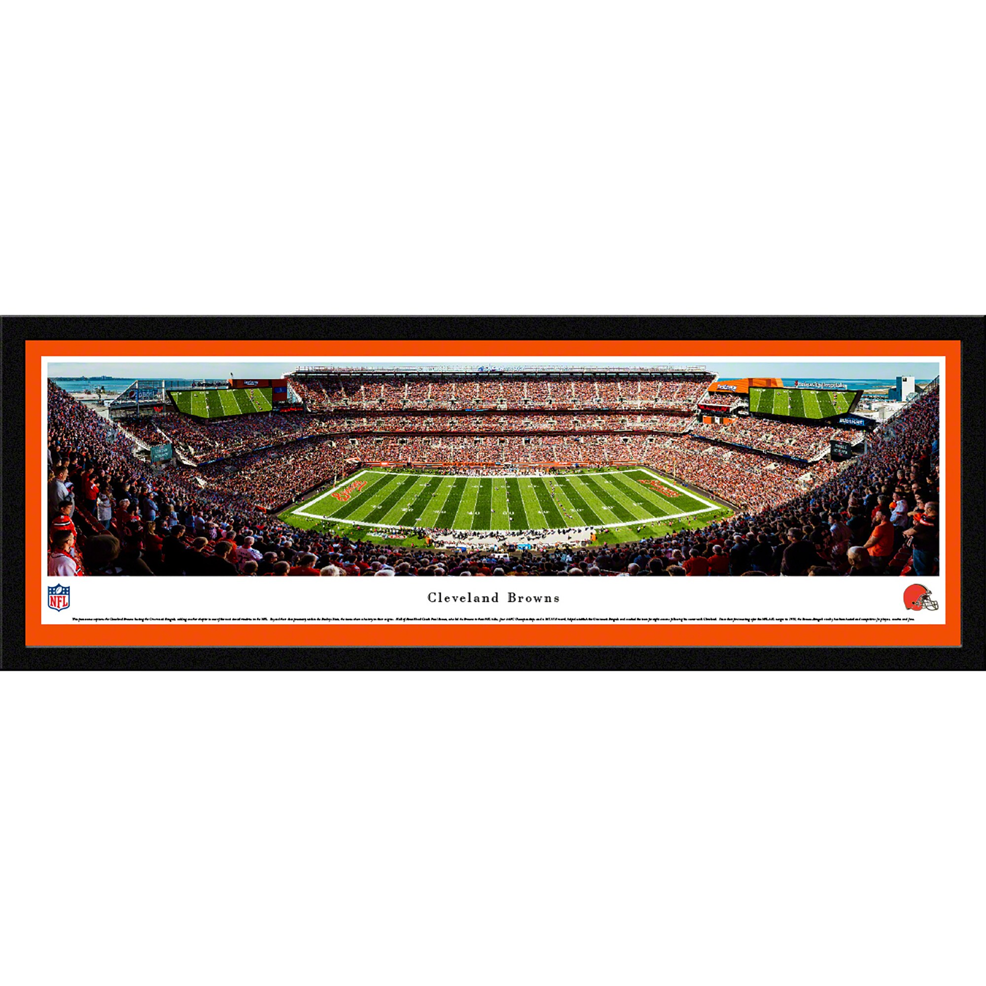 "Cleveland Browns 42"" x 15.5"" 50-Yard Line Select Framed Panoramic"