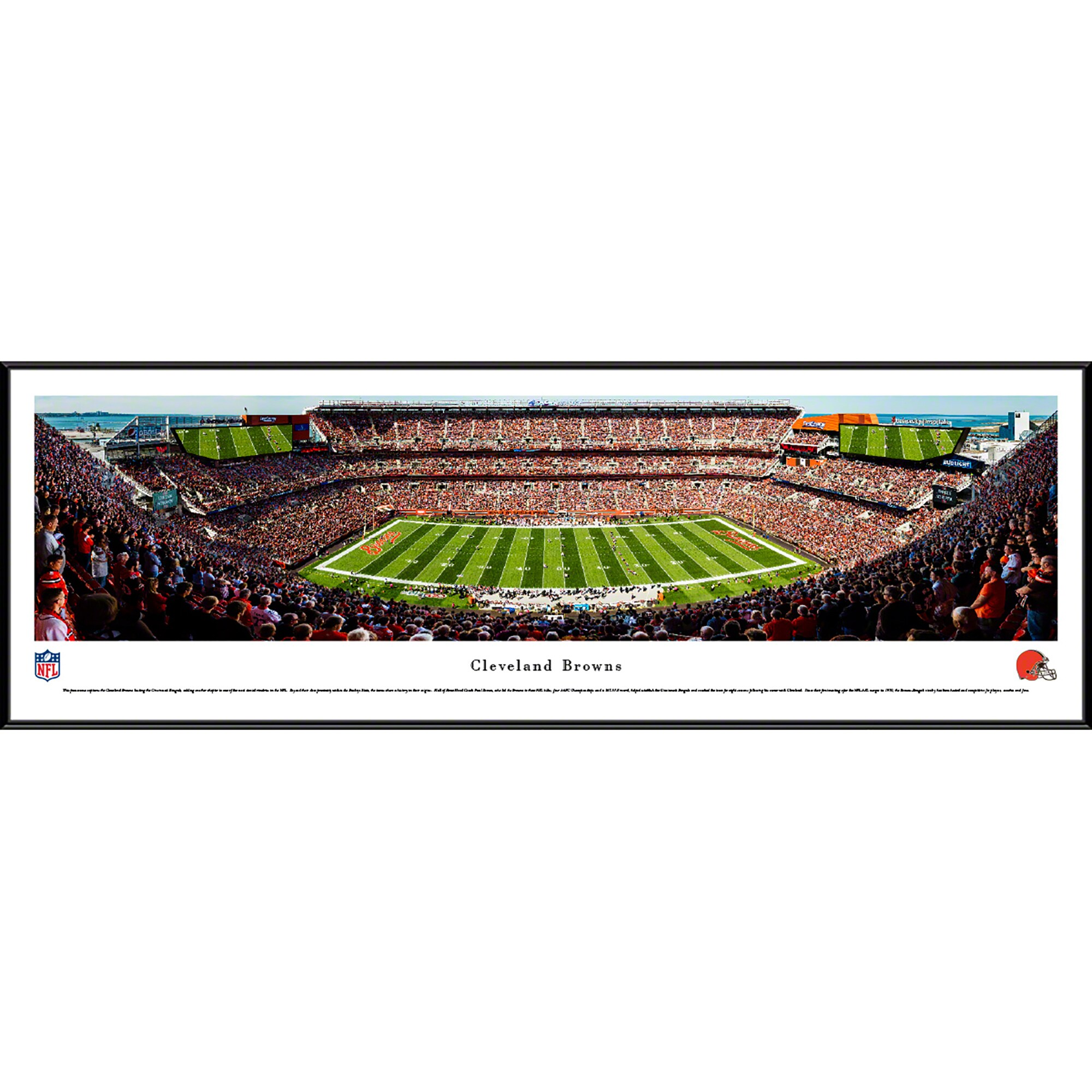 "Cleveland Browns 40.25"" x 13.75"" 50-Yard Line Standard Framed Panoramic"