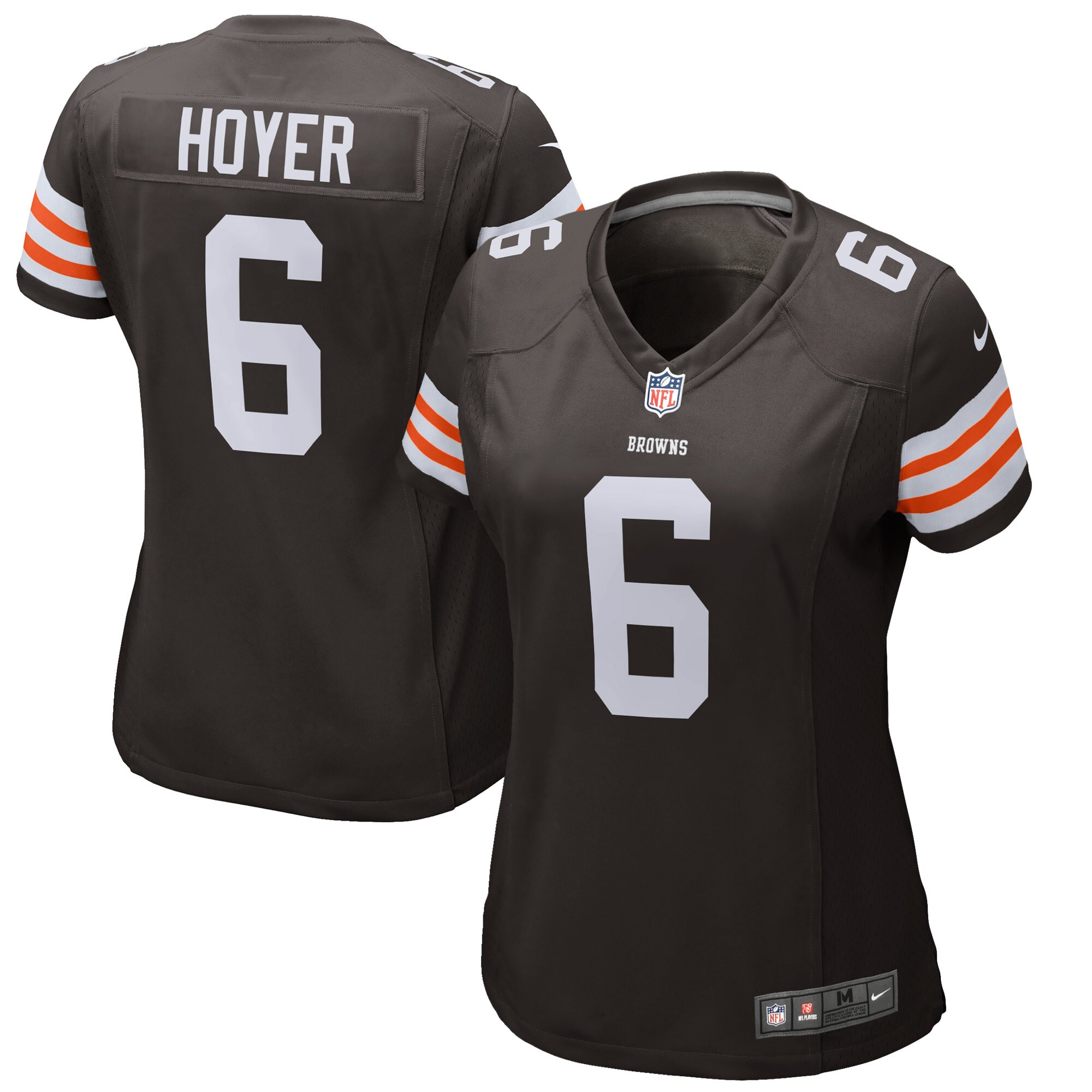 Brian Hoyer Cleveland Browns Historic Logo Nike Women's Game Jersey -