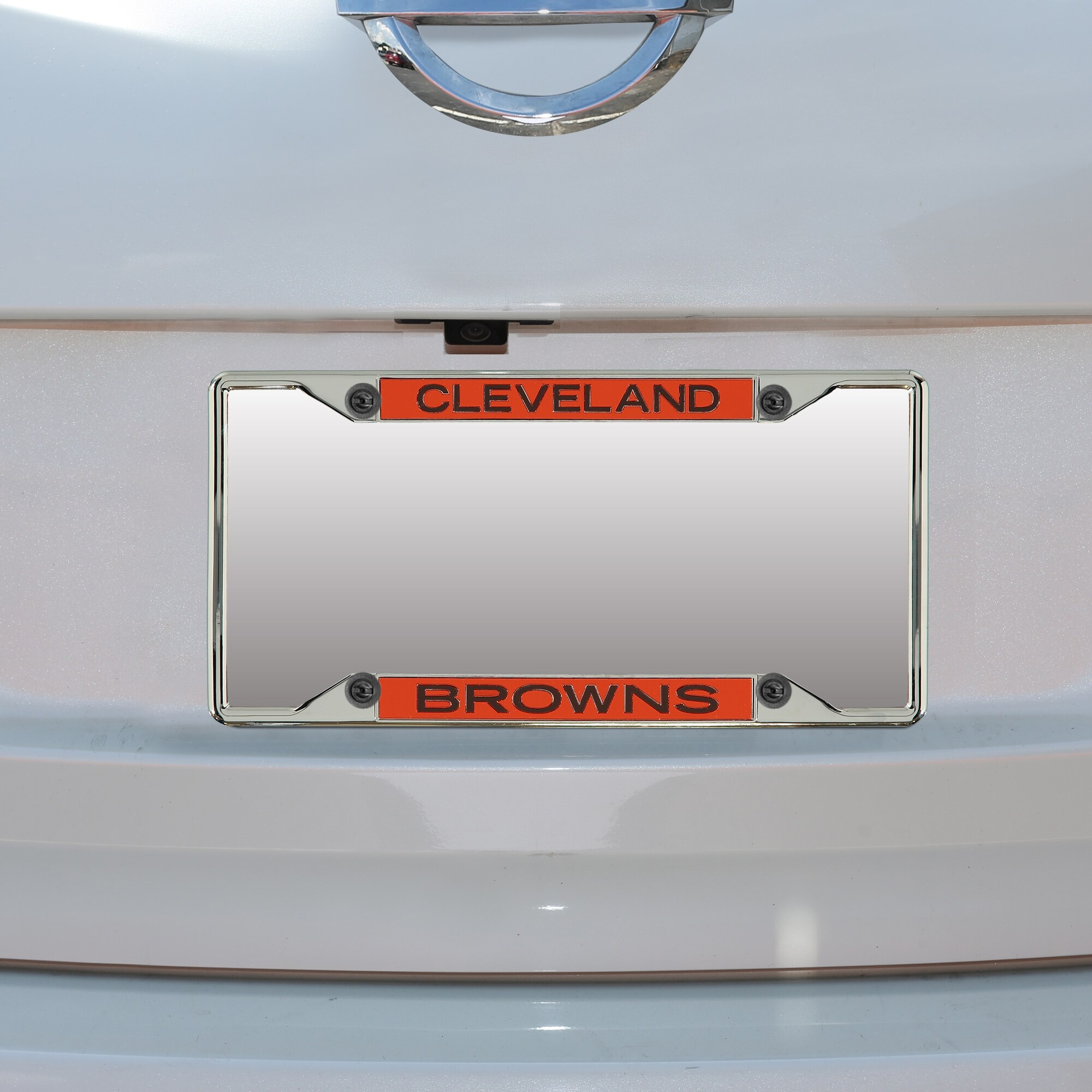 Cleveland Browns Mirror With Color Letters Wordmark License Plate Frame