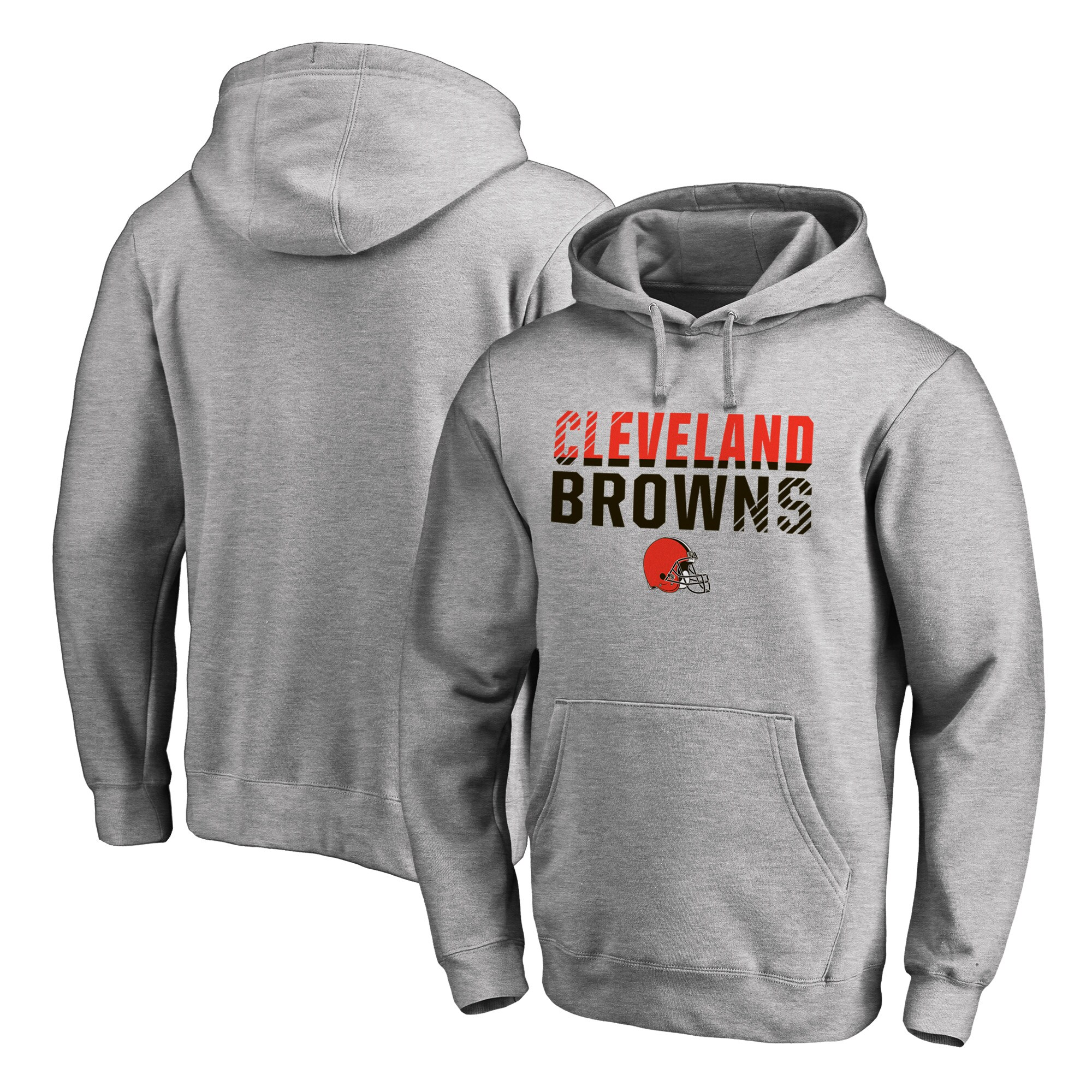 Cleveland Browns NFL Pro Line by Fanatics Branded Iconic Collection Fade Out Pullover Hoodie - Ash