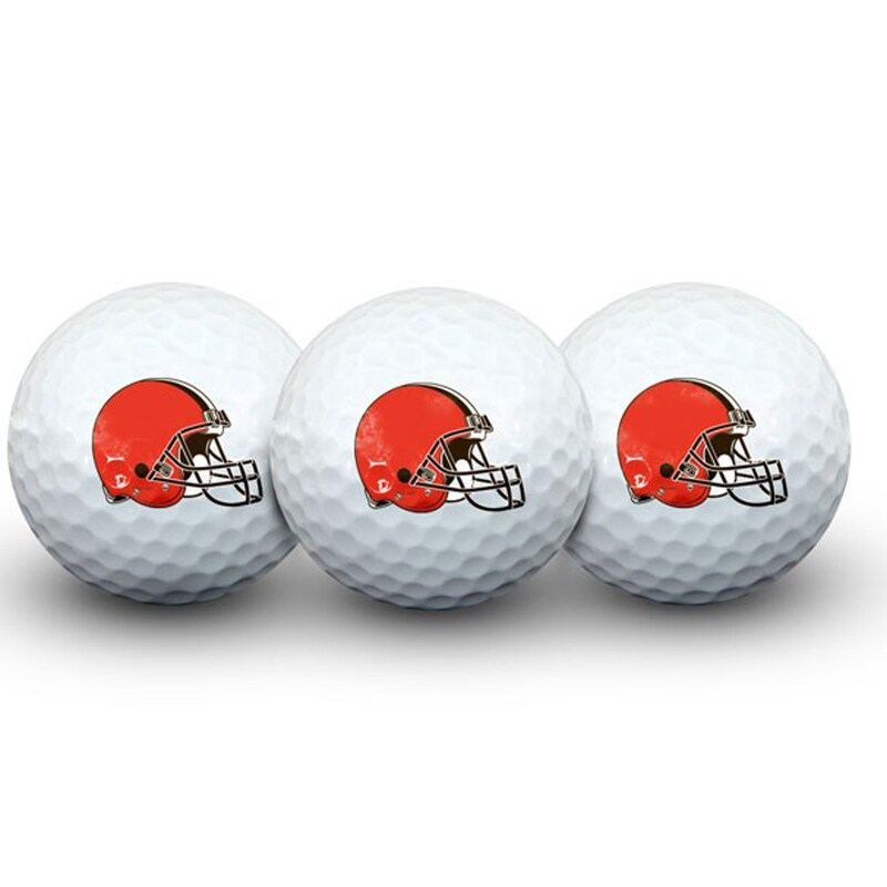 Cleveland Browns Pack of 3 Golf Balls