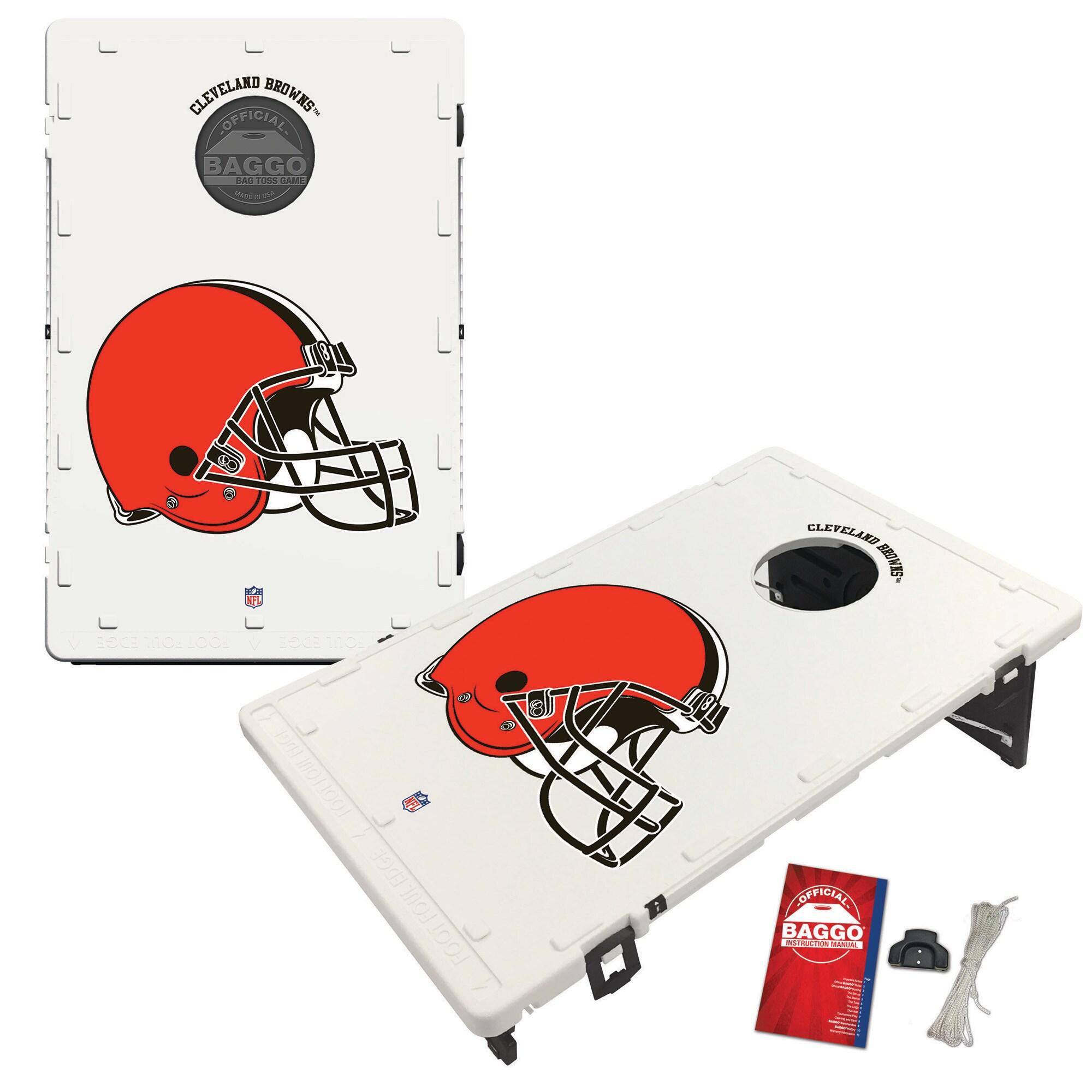 Cleveland Browns 2' x 3' Classic Design BAGGO Cornhole Board Tailgate Toss Set