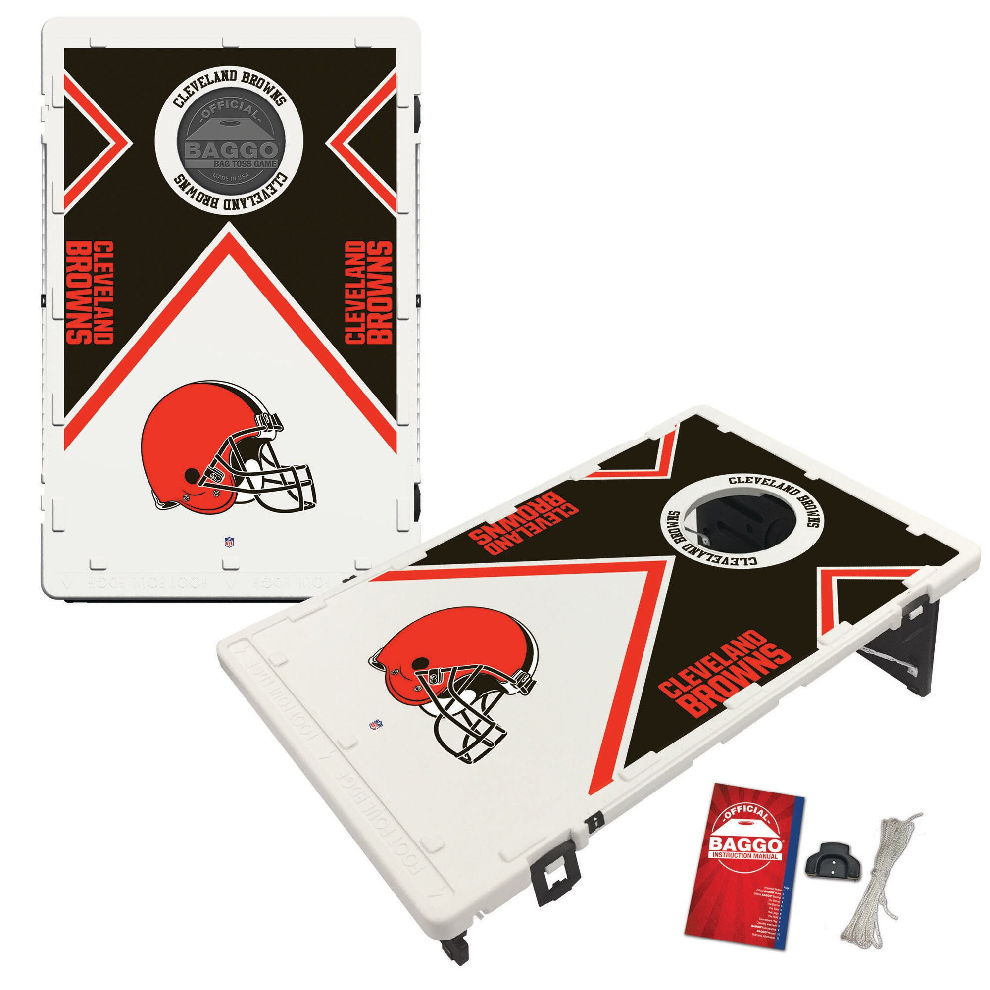 Cleveland Browns 2' x 3' BAGGO Vintage Cornhole Board Tailgate Toss Set