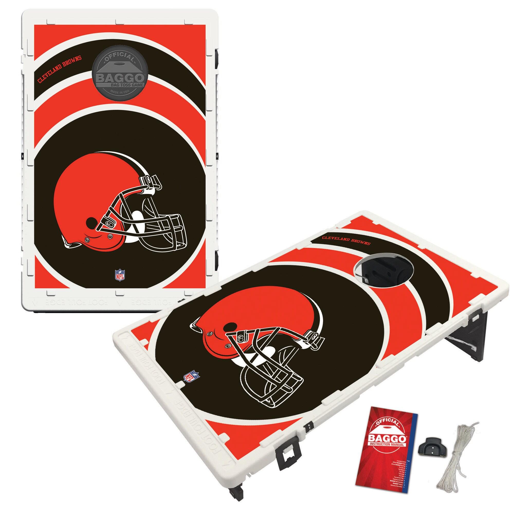 Cleveland Browns 2' x 3' BAGGO Vortex Cornhole Board Tailgate Toss Set