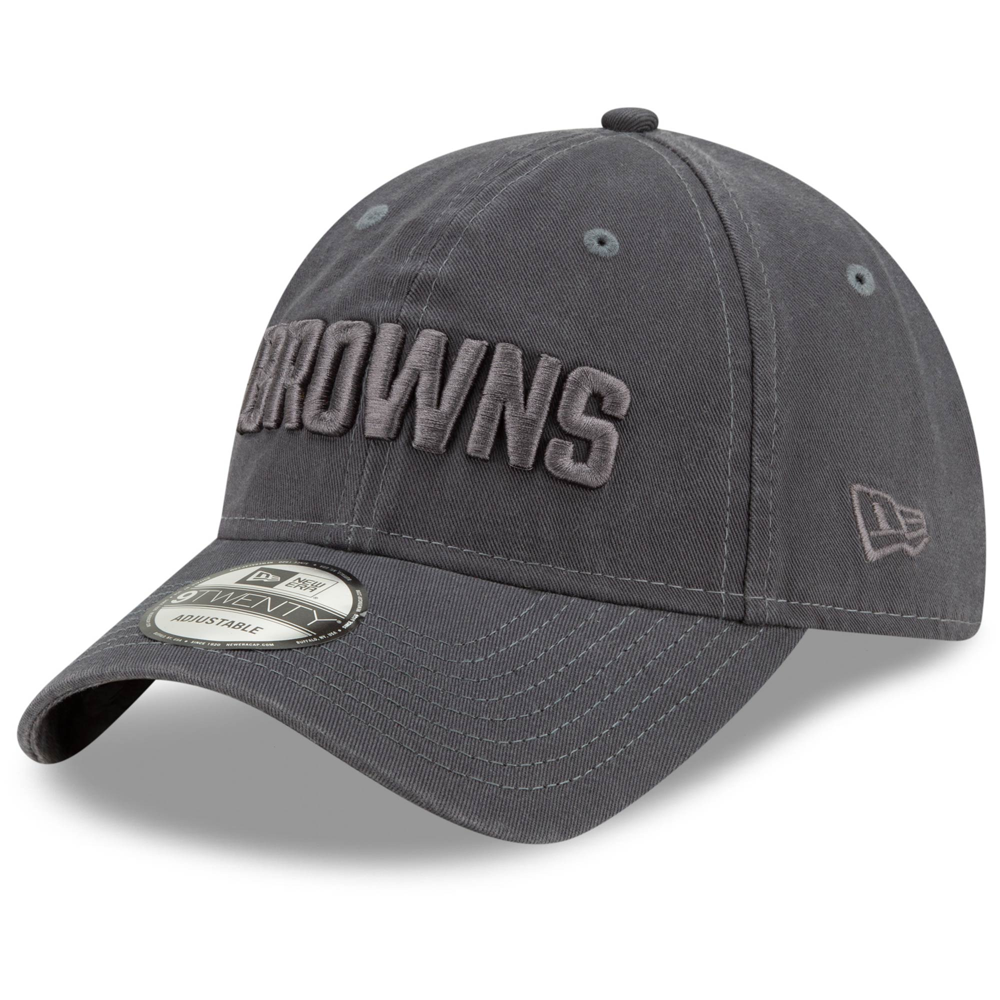 Cleveland Browns New Era Core Classic Tonal 9TWENTY Adjustable Hat - Graphite
