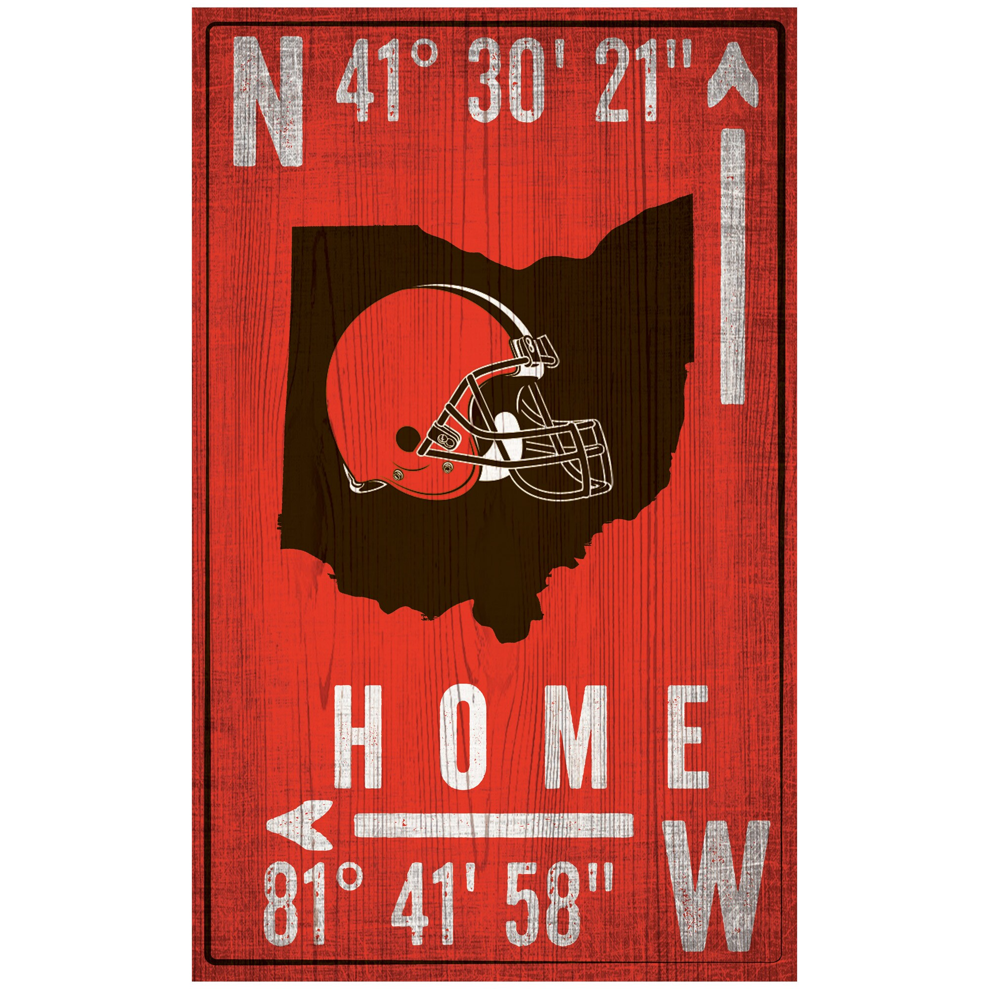 "Cleveland Browns 11"" x 19"" Coordinate Sign"