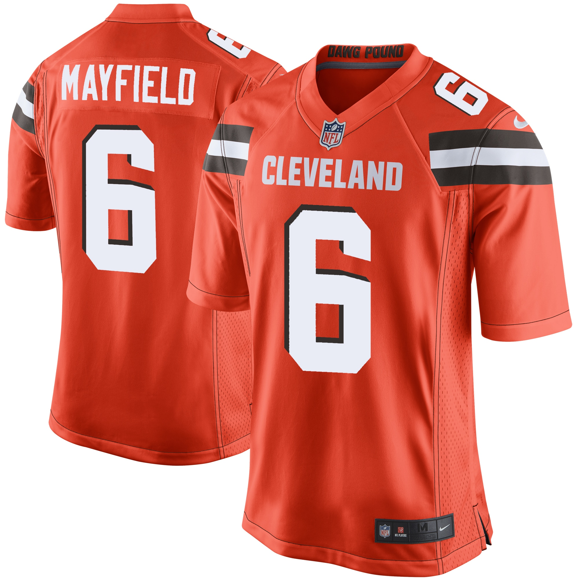 Baker Mayfield Cleveland Browns Nike Game Jersey - Orange