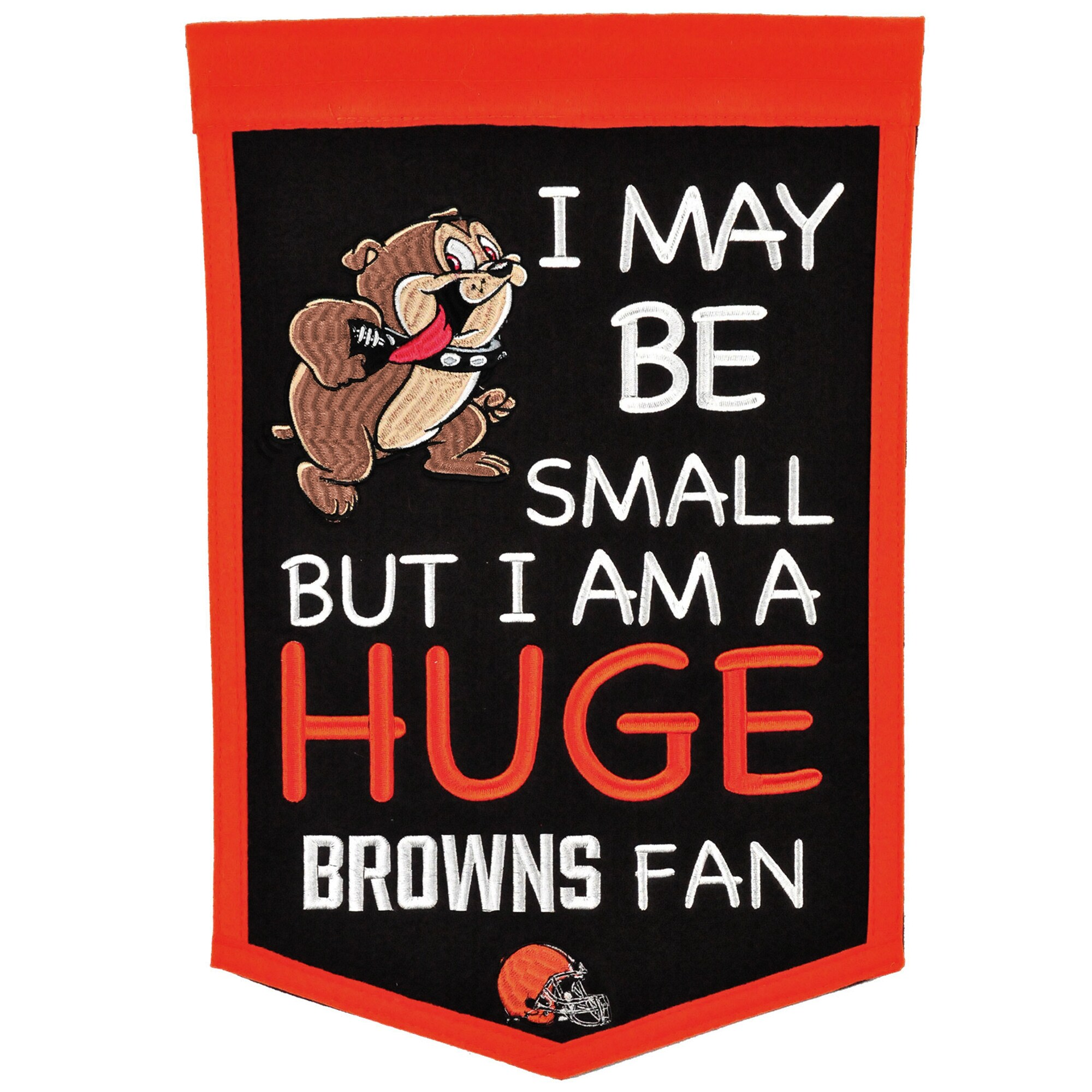 "Cleveland Browns 12"" x 18"" Lil Fan Traditions Banner"