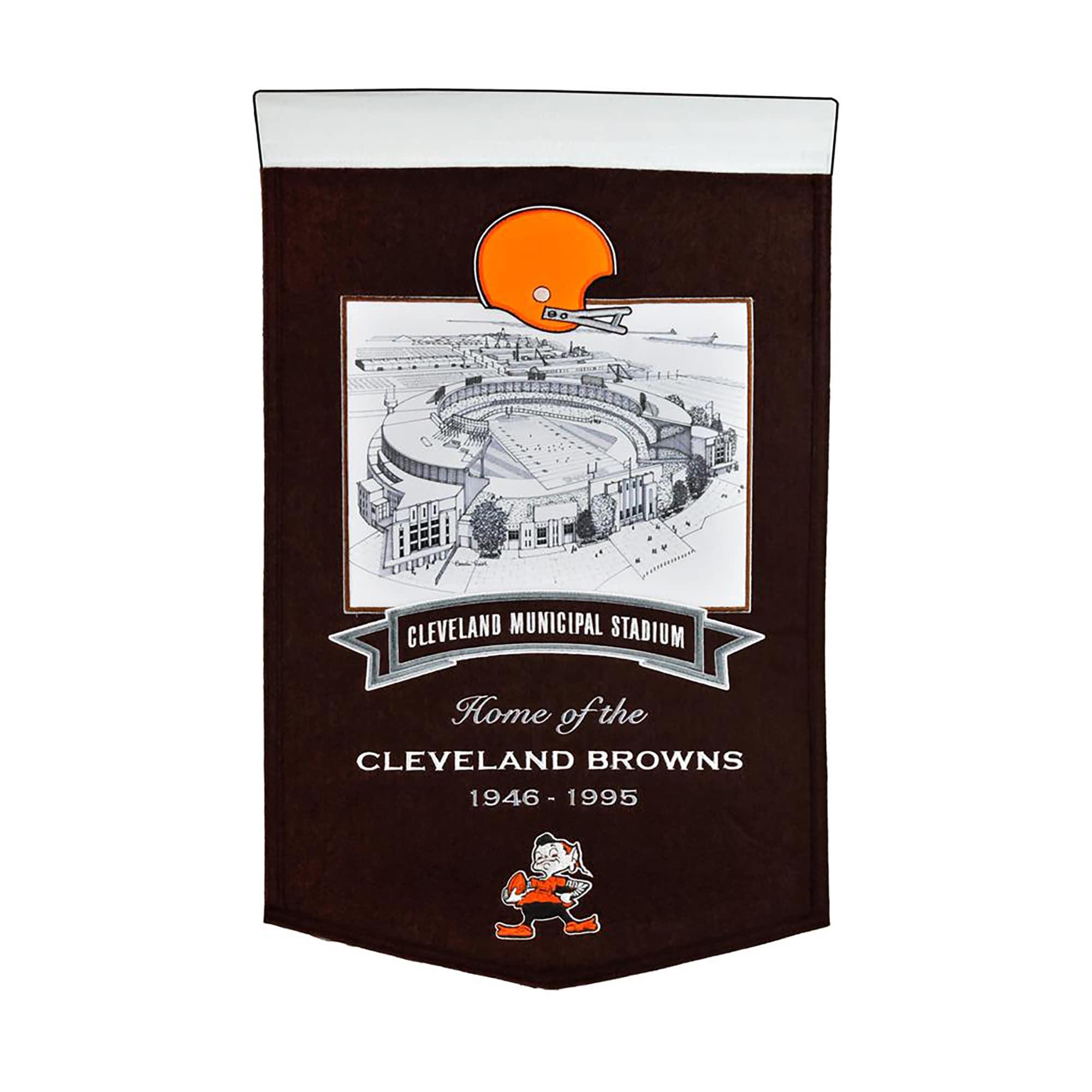 """Cleveland Browns 15"""" x 24"""" Stadium Banner"""