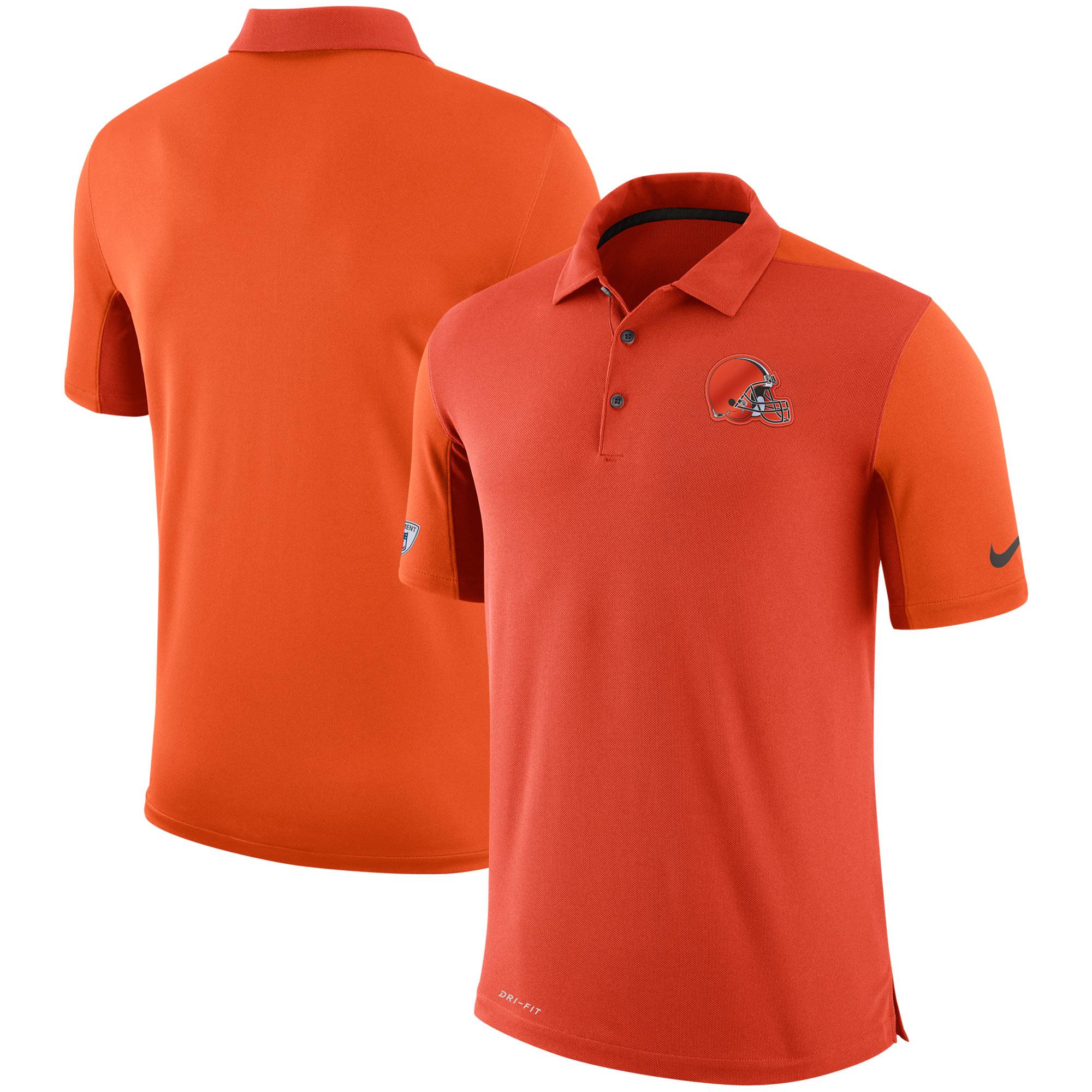 Cleveland Browns Nike Sideline Team Issue Logo Performance Polo - Orange