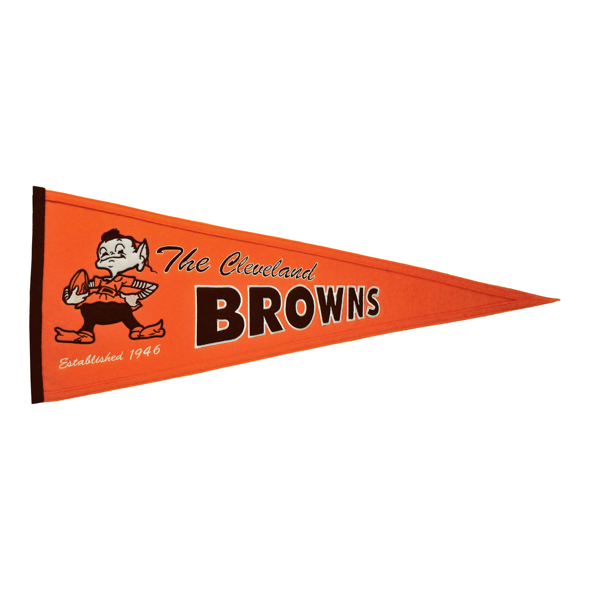 "Cleveland Browns 13"" x 32"" Throwback Pennant"