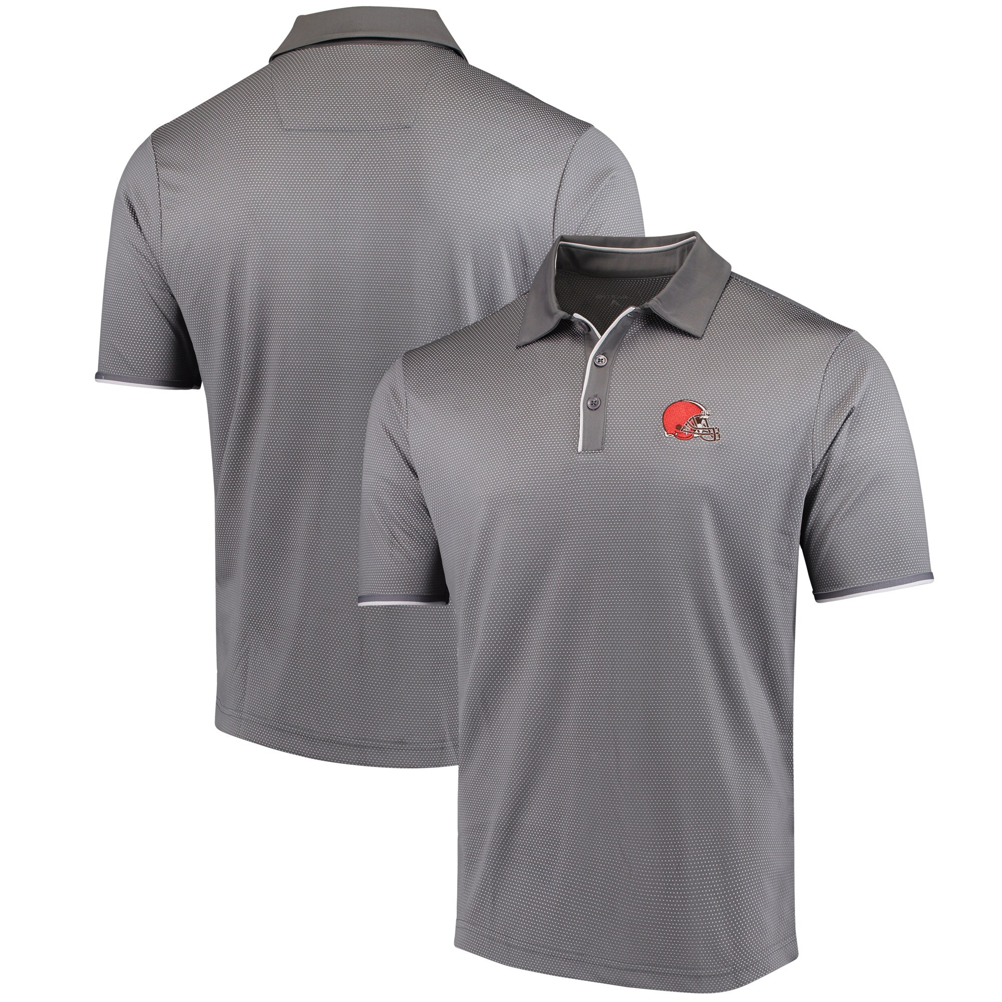 Cleveland Browns Antigua Draft Polo - Steel/White