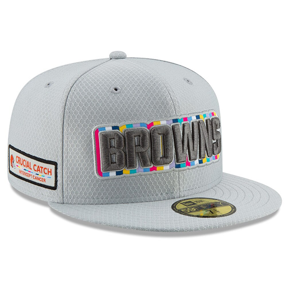 Cleveland Browns New Era Crucial Catch 59FIFTY Fitted Hat - Gray