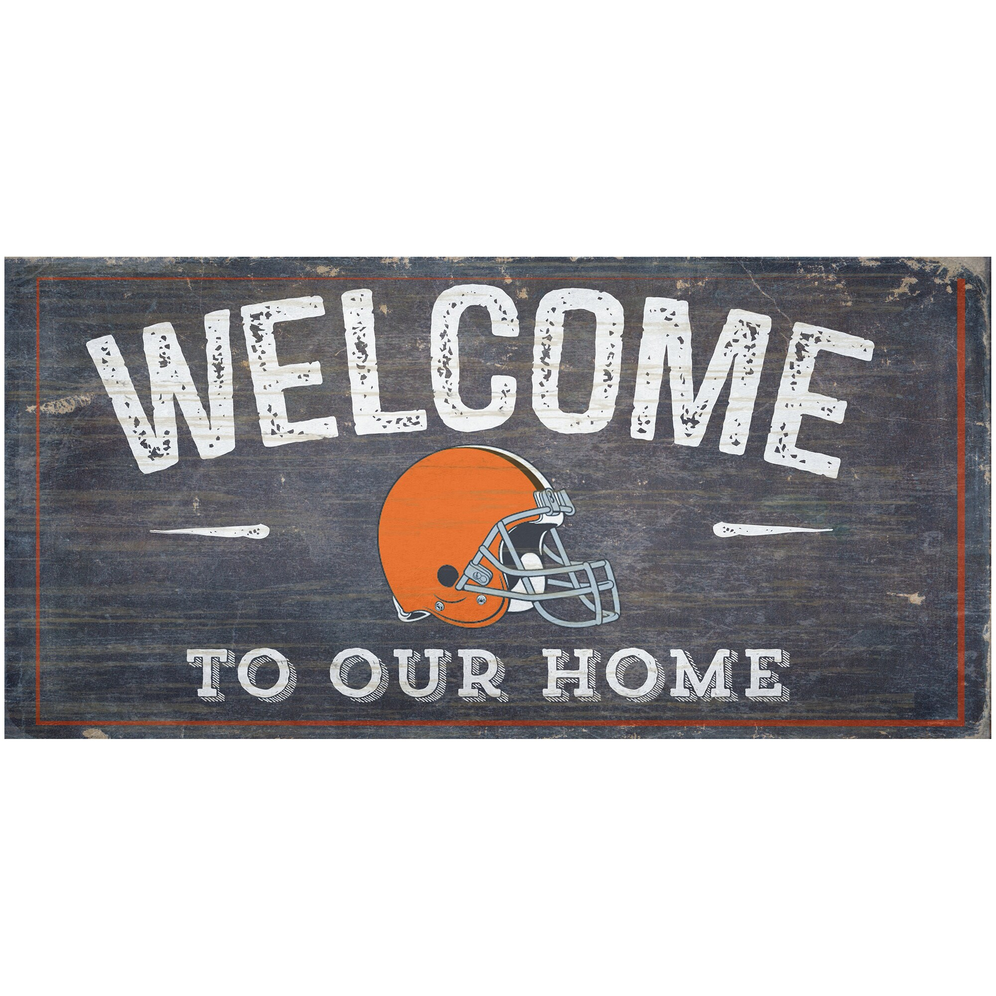 "Cleveland Browns 6"" x 12"" Welcome To Our Home Sign"