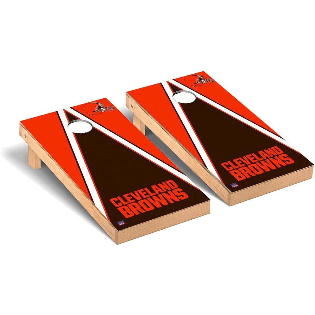Cleveland Browns 2' x 4' Triangle Cornhole Board Tailgate Toss Set
