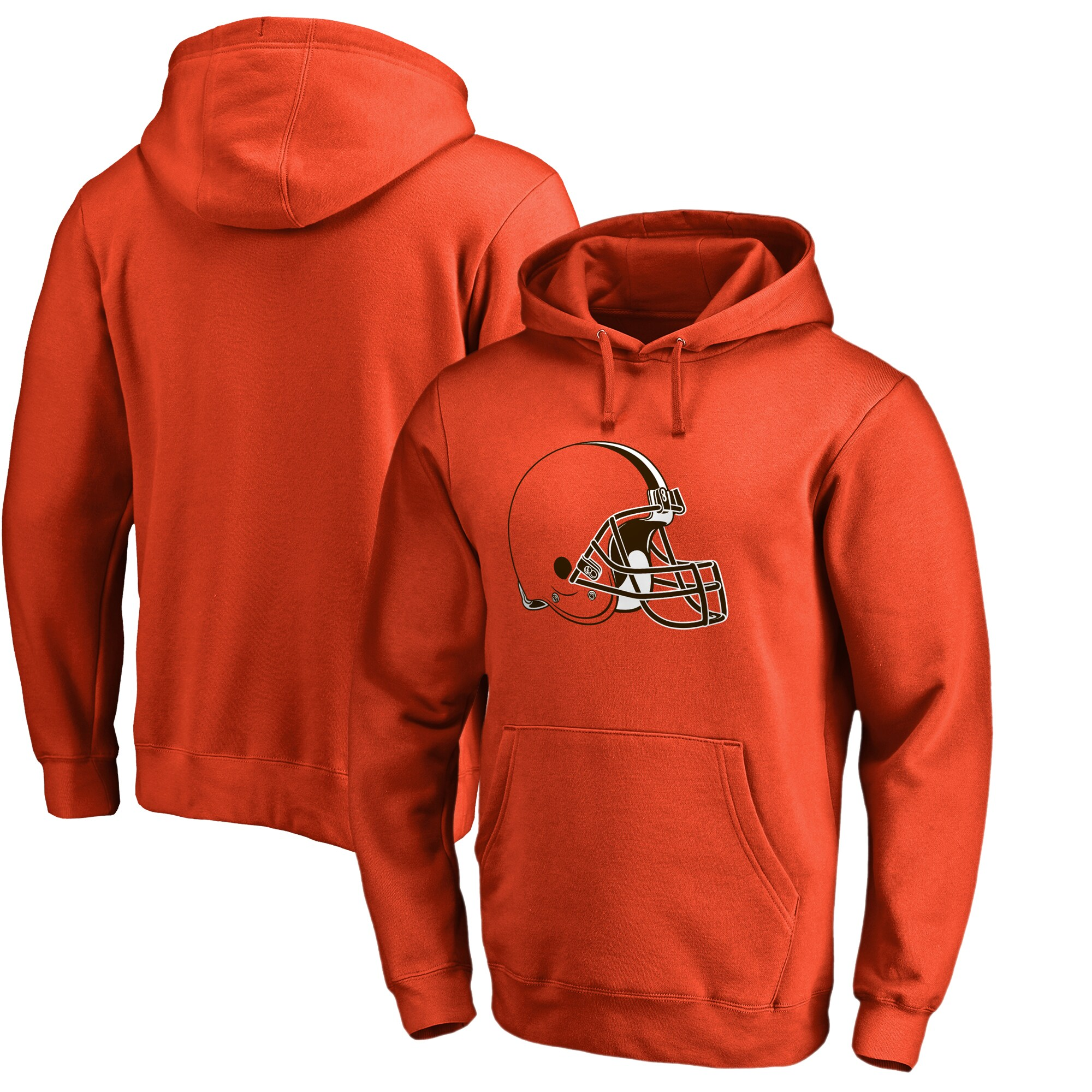 Cleveland Browns NFL Pro Line by Fanatics Branded Primary Logo Pullover Hoodie - Orange