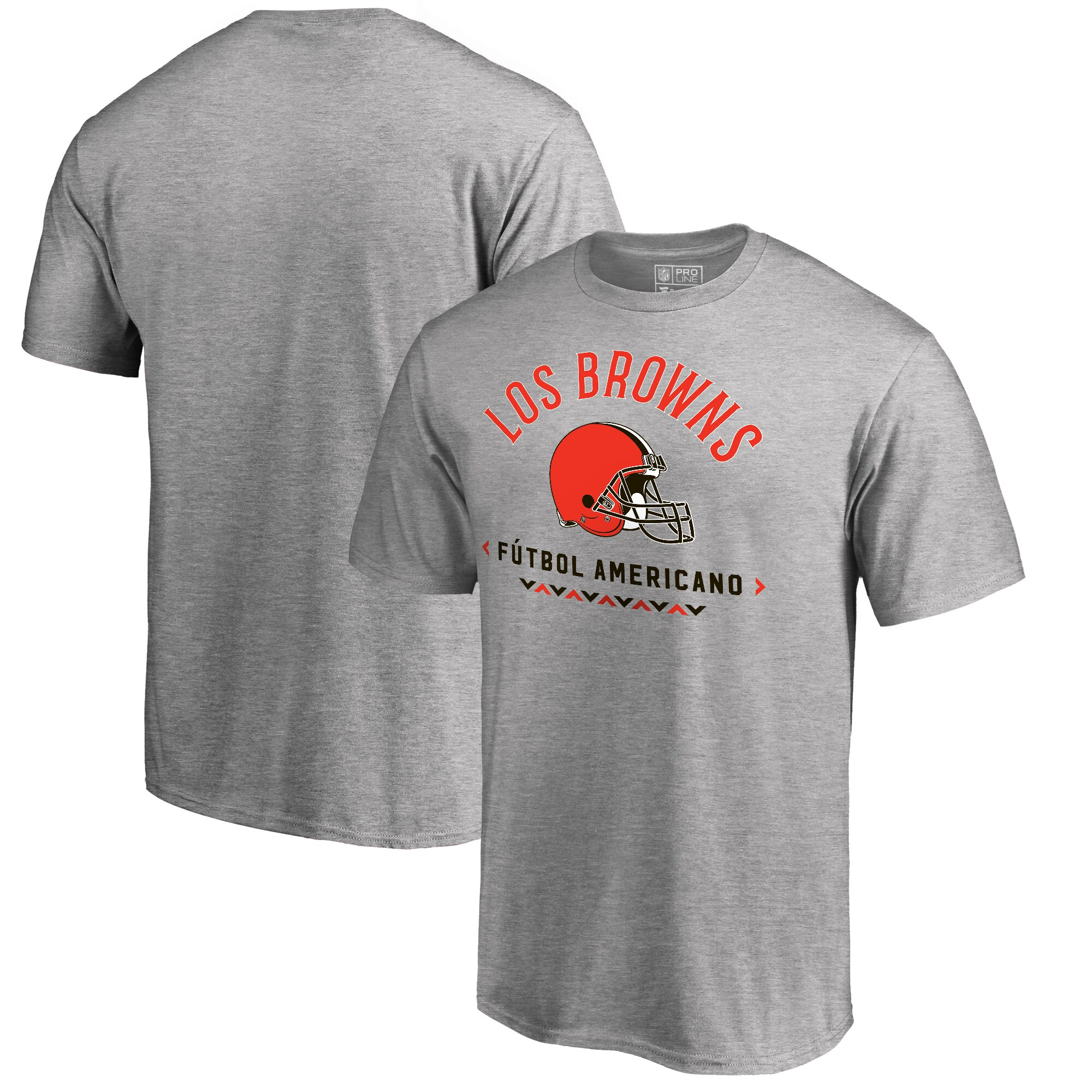 Cleveland Browns NFL Pro Line by Fanatics Branded Futbol Americano Big & Tall T-Shirt - Heathered Gray