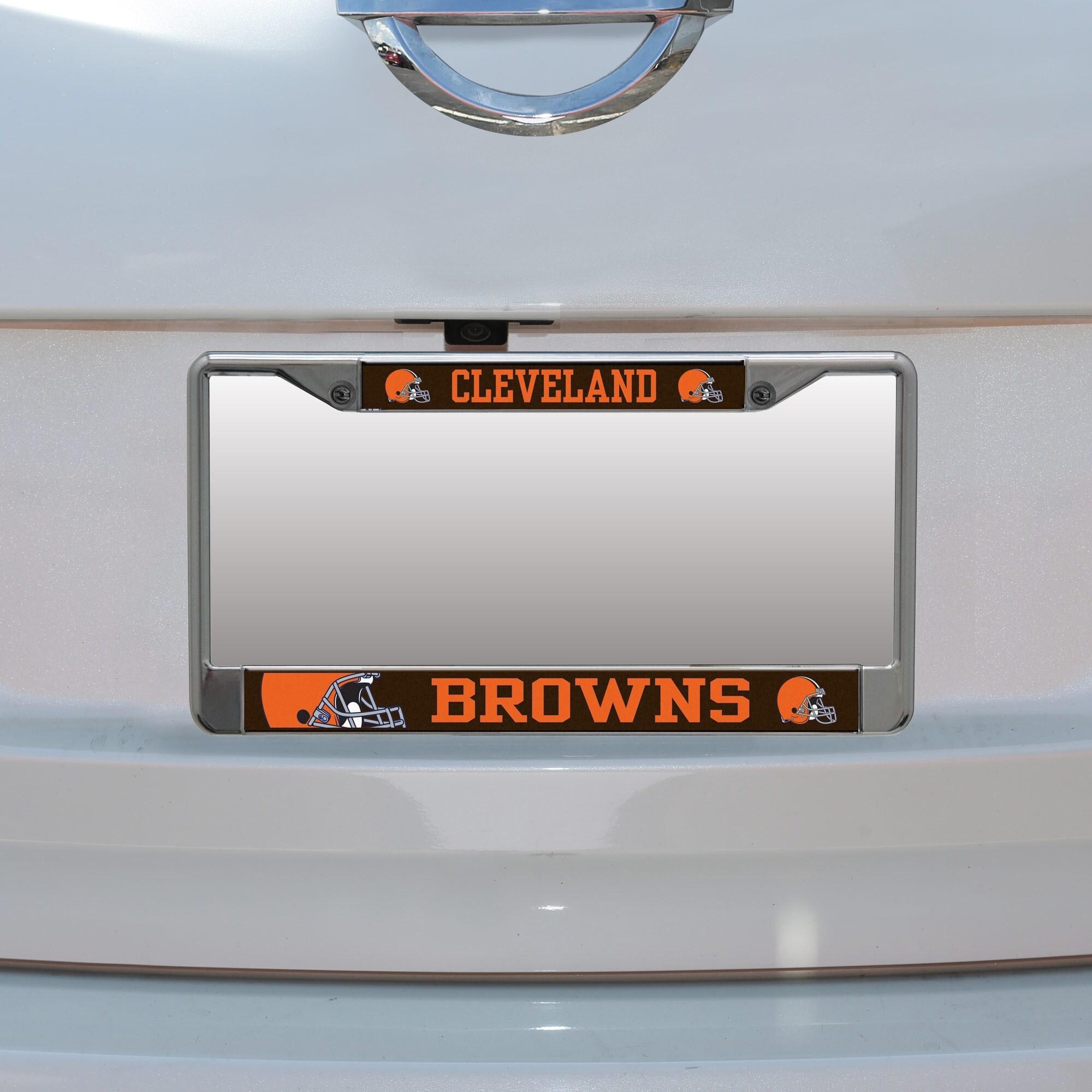 Cleveland Browns Small Over Large Mega License Plate Frame