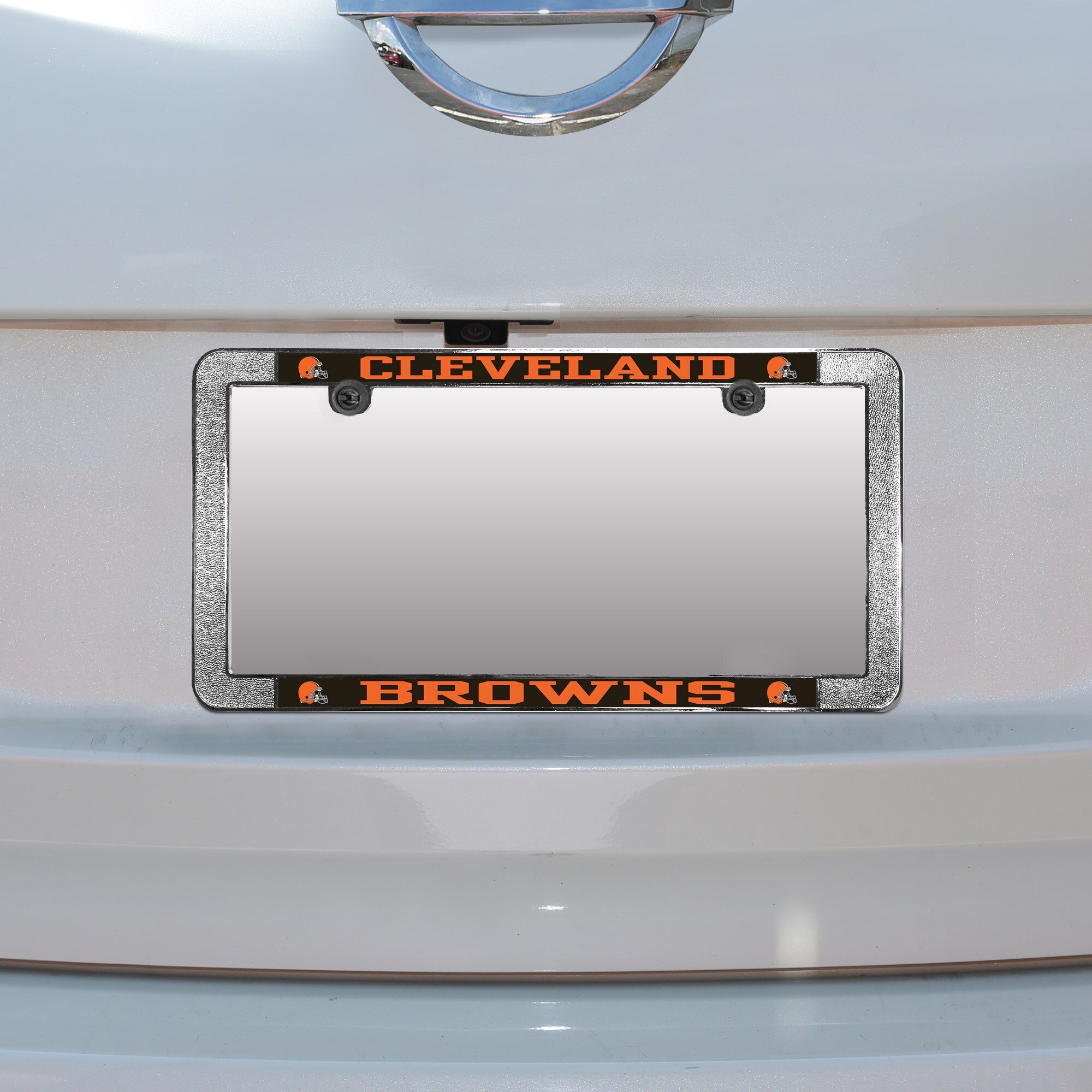 Cleveland Browns Metal Thin Rim Acrylic Laser-Cut License Plate Frame