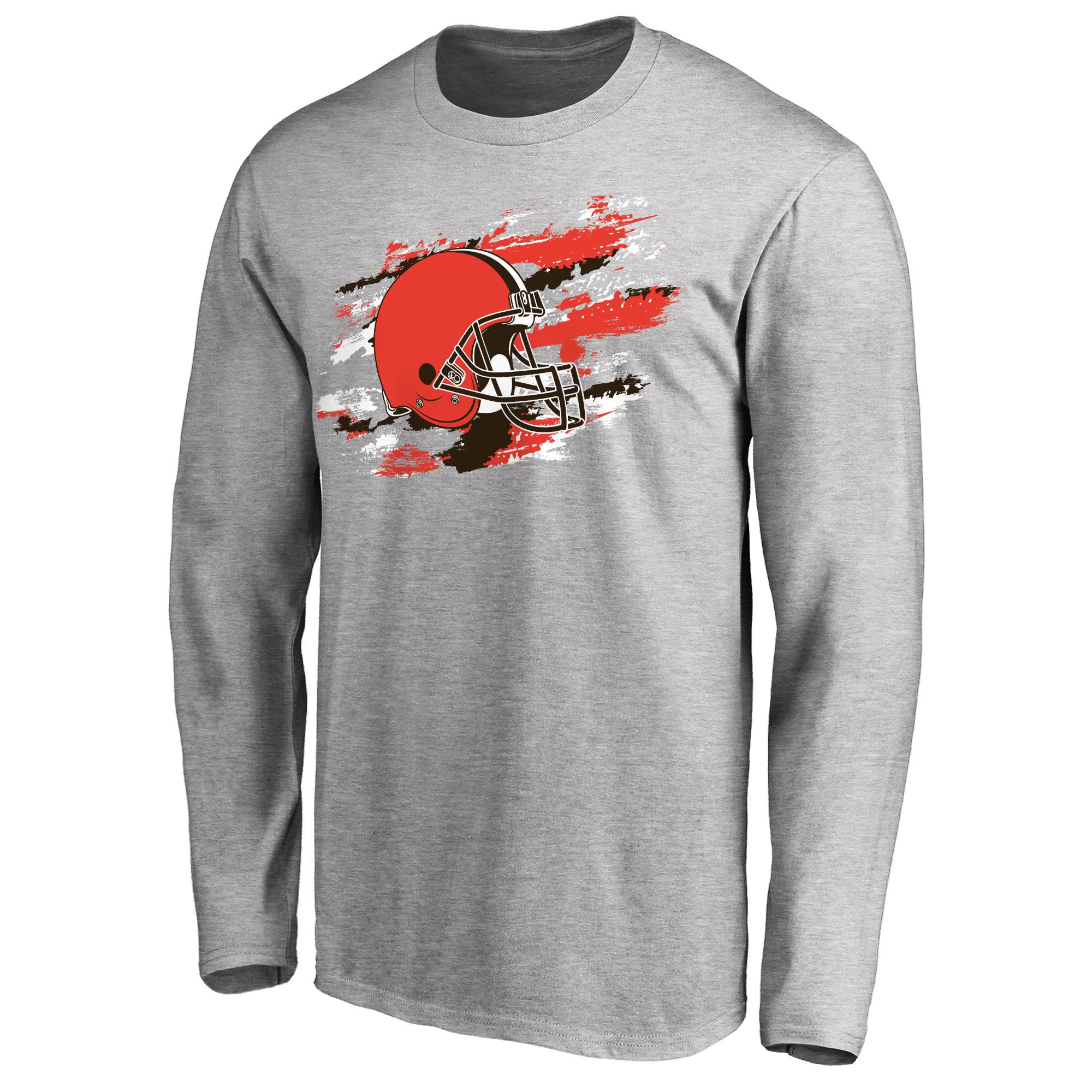 Cleveland Browns NFL Pro Line True Colors Long Sleeve T-Shirt - Ash