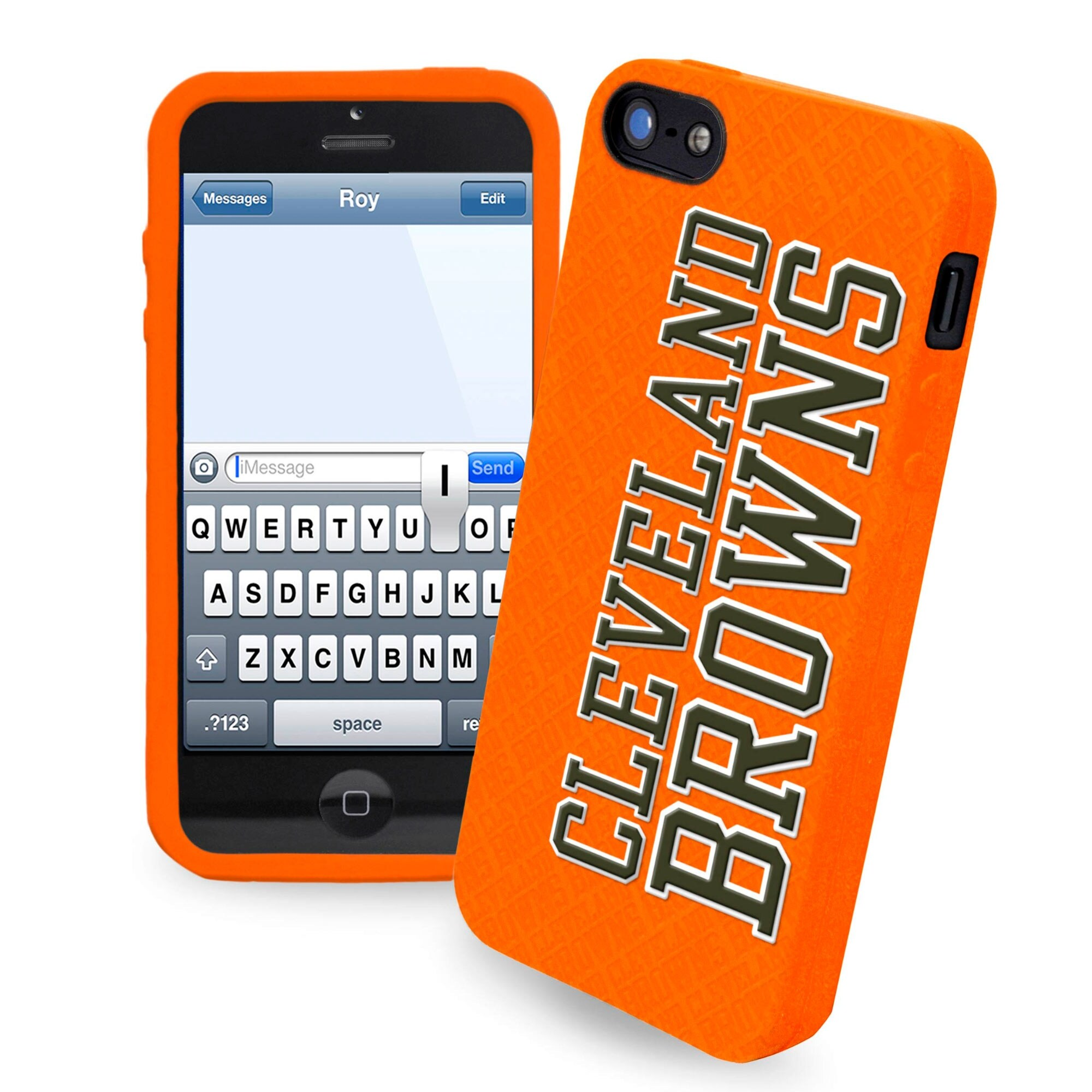 Cleveland Browns Historic Logo Silicone iPhone 5 Cover - Brown