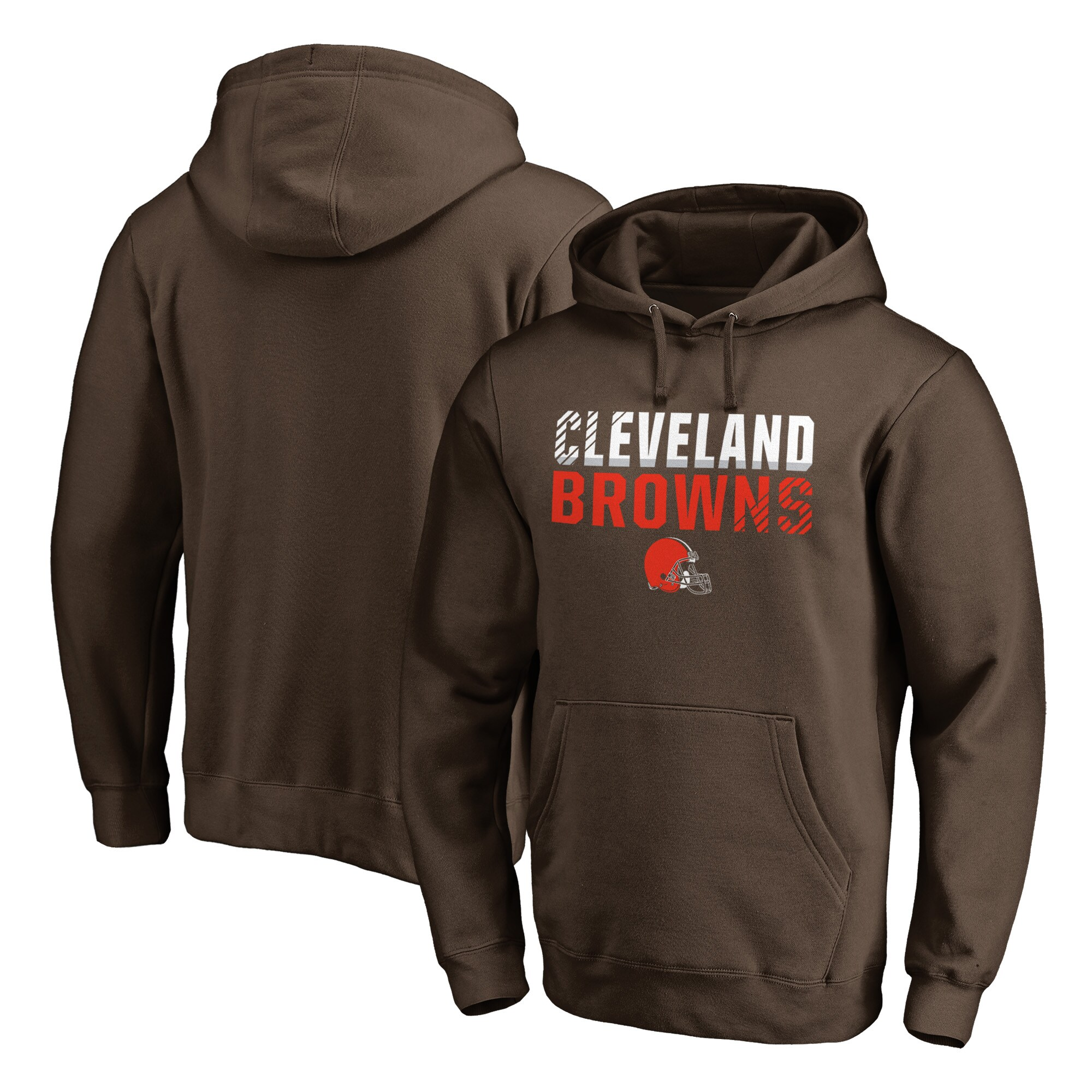 Cleveland Browns NFL Pro Line by Fanatics Branded Iconic Collection Fade Out Pullover Hoodie - Brown
