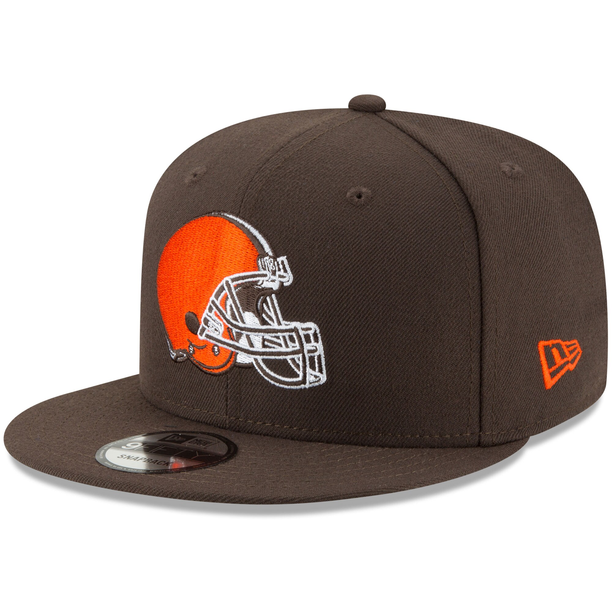 Cleveland Browns New Era Basic 9FIFTY Adjustable Snapback Hat - Brown