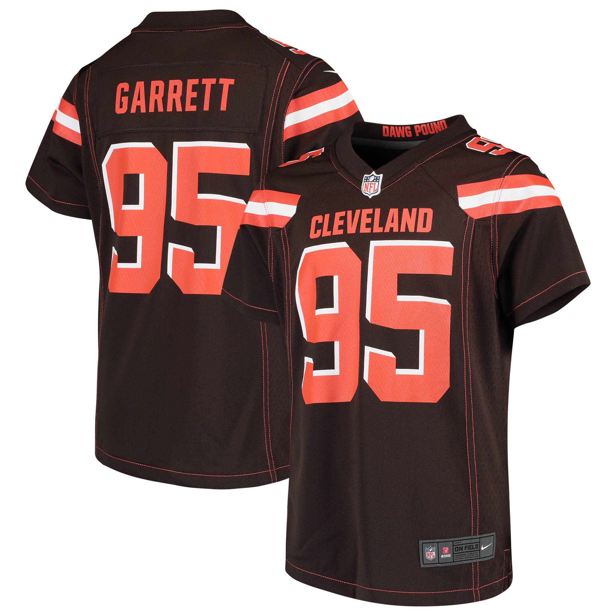 Myles Garrett Cleveland Browns Nike Girls Youth Game Jersey - Brown