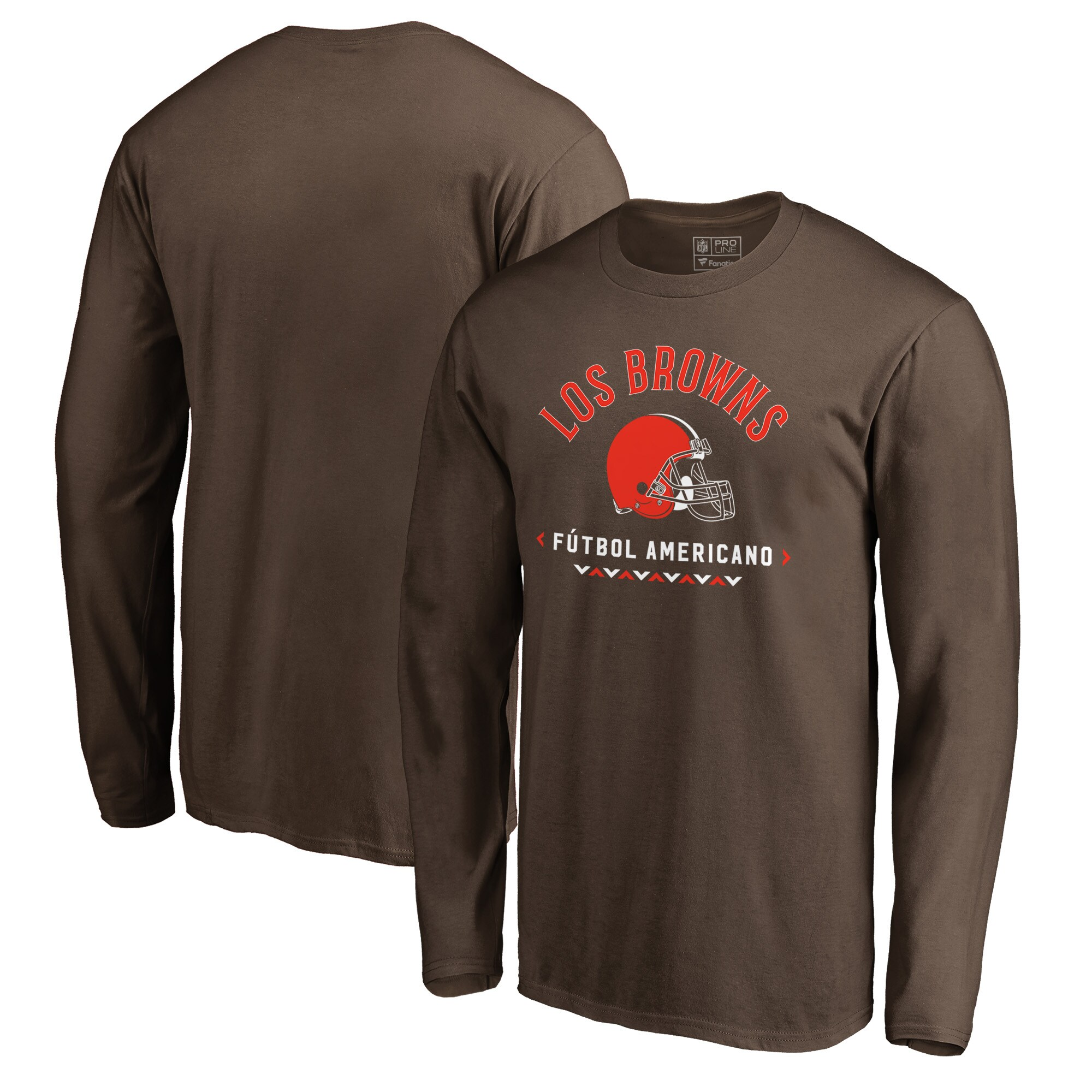 Cleveland Browns NFL Pro Line by Fanatics Branded Futbol Americano Long Sleeve T-Shirt - Brown