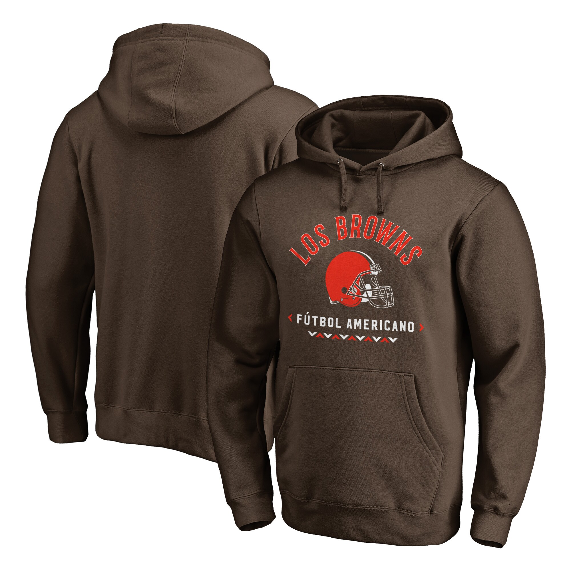 Cleveland Browns NFL Pro Line by Fanatics Branded Futbol Americano Pullover Hoodie - Brown