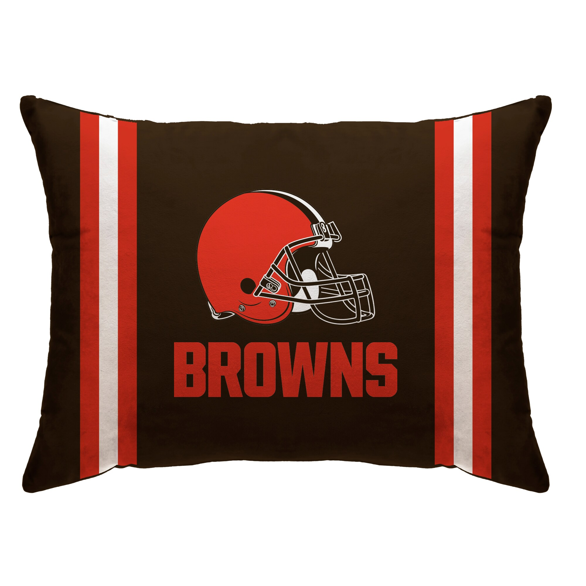 """Cleveland Browns 20"""" x 26"""" Plush Bed Pillow - Brown"""