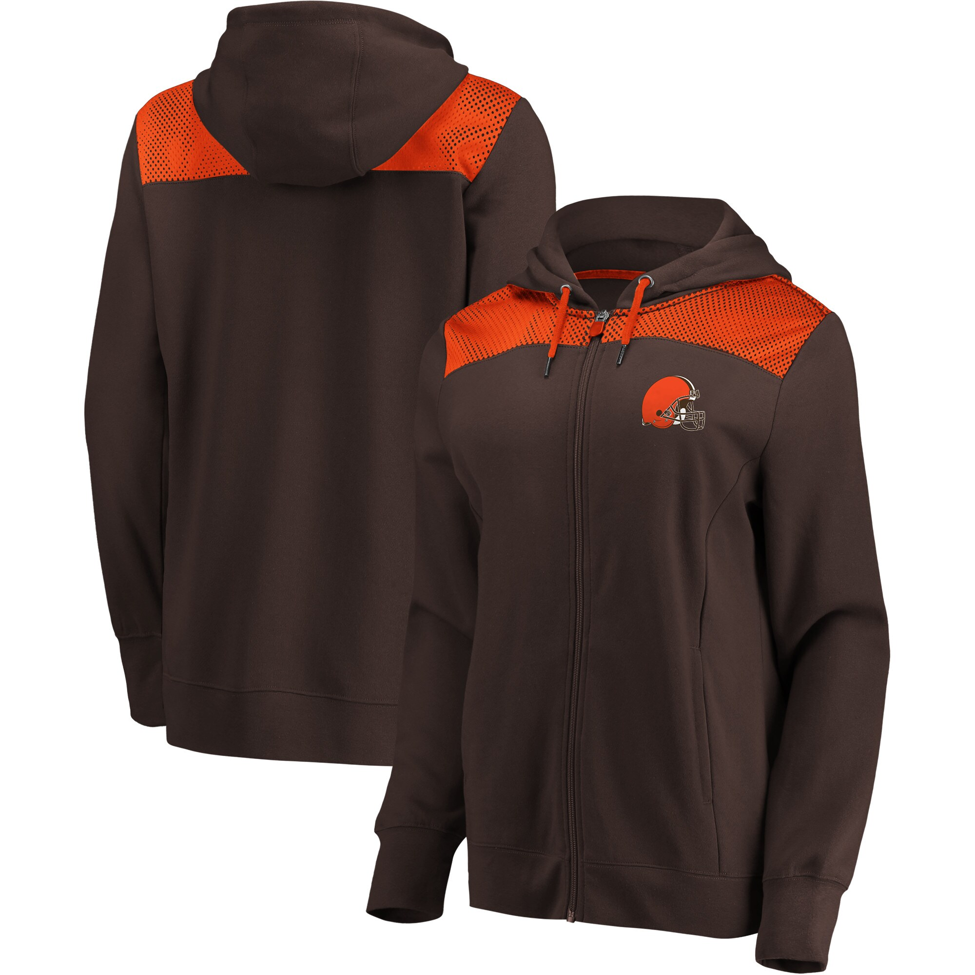 Cleveland Browns Fanatics Branded Women's Team Best Full-Zip Hoodie - Brown