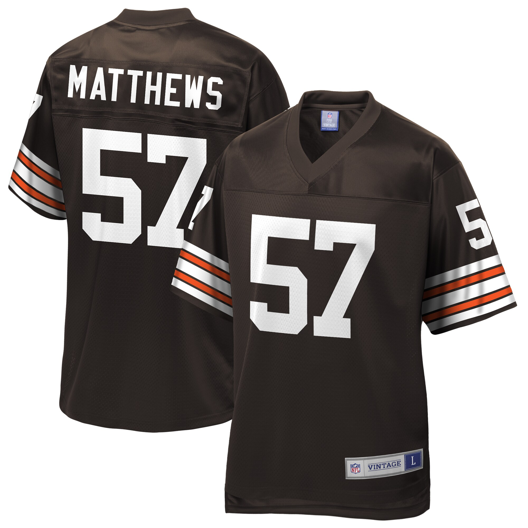 Clay Matthews Cleveland Browns NFL Pro Line Throwback Retired Player Jersey - Brown
