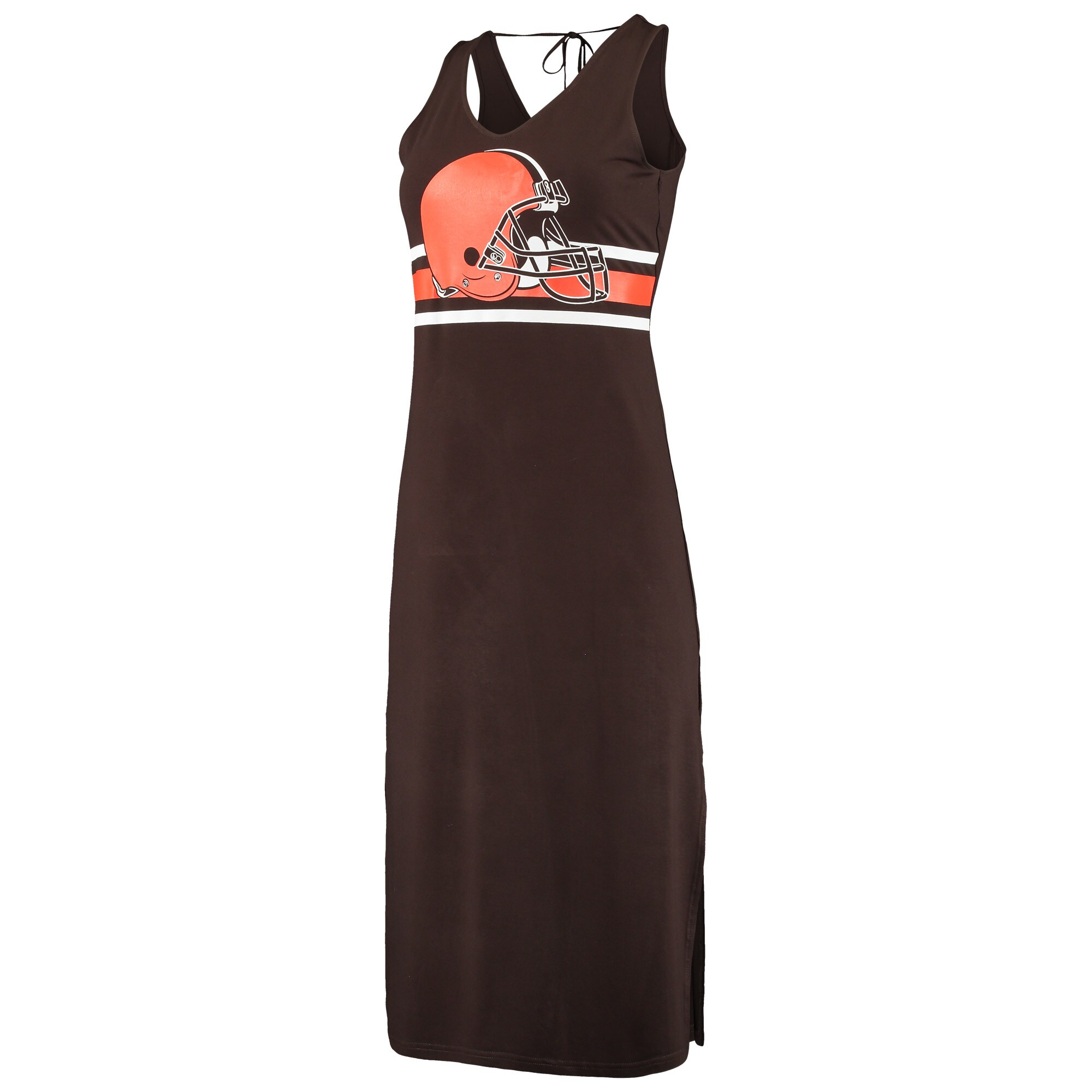 Cleveland Browns G-III 4Her by Carl Banks Women's Kick-Off Maxi Dress - Brown