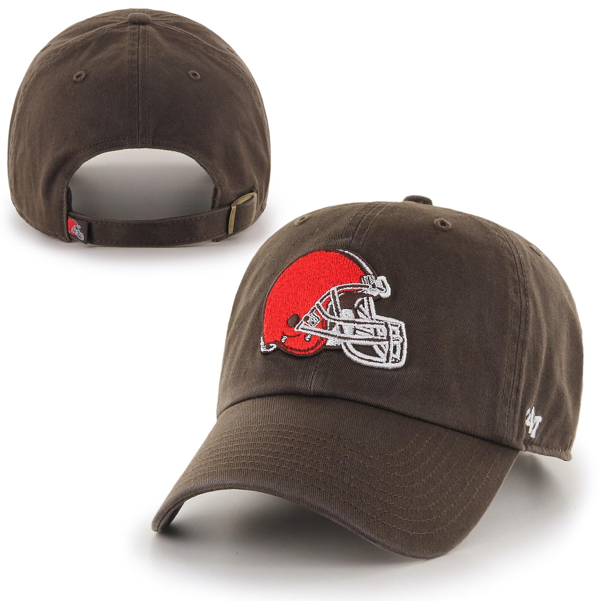Cleveland Browns '47 Brand Clean Up BL Adjustable Hat - Brown