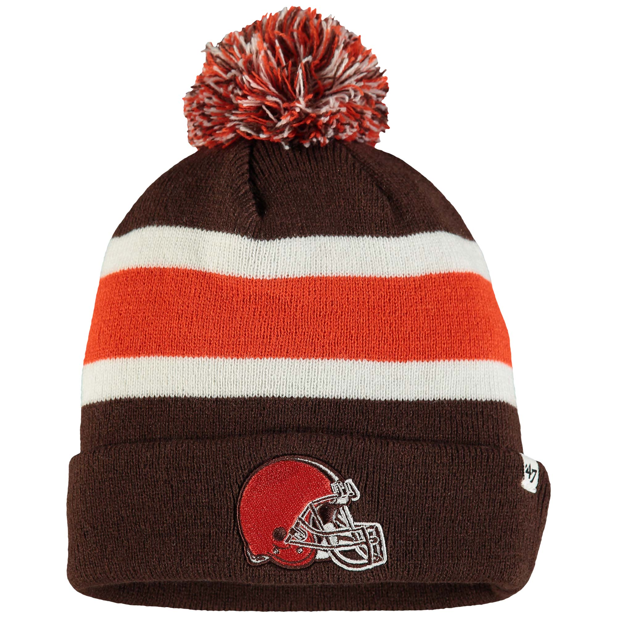 Cleveland Browns '47 Breakaway Cuffed Knit Hat with Pom - Brown