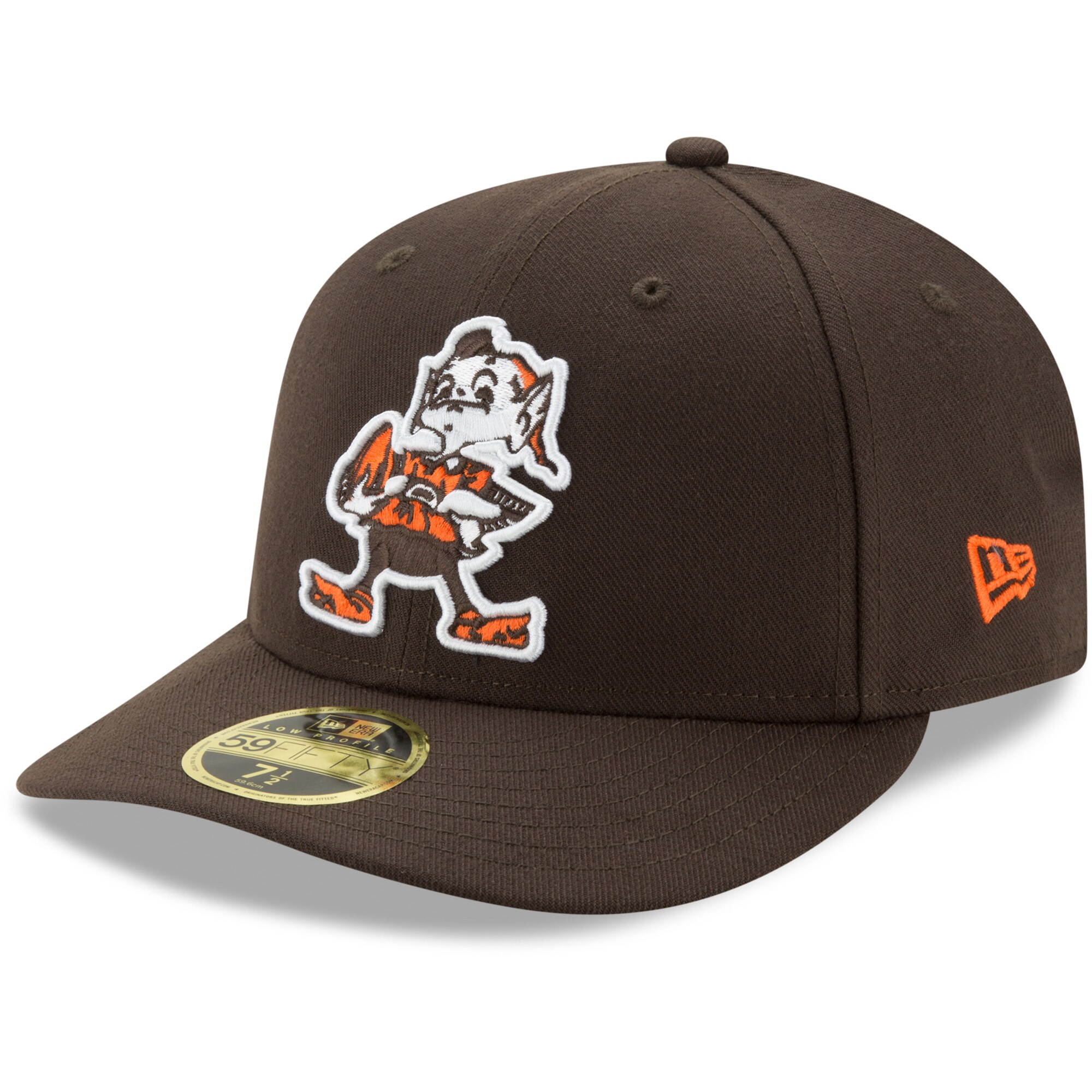 Cleveland Browns New Era Brownie Omaha Throwback Low Profile 59FIFTY Fitted Hat - Brown